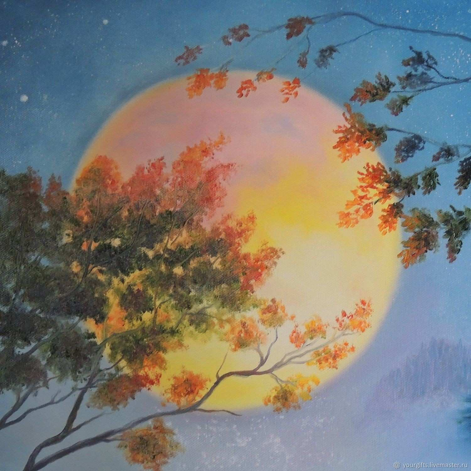 """Moonlight Sonata"""" oil painting – shop online on Livemaster with"""