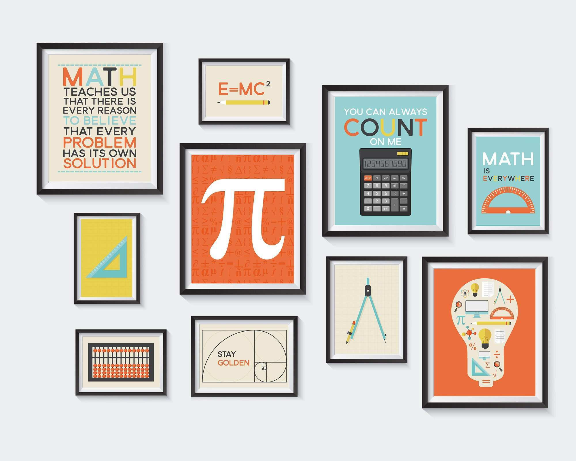 Math Printable Nursery Printables Mathematics Gallery Wall