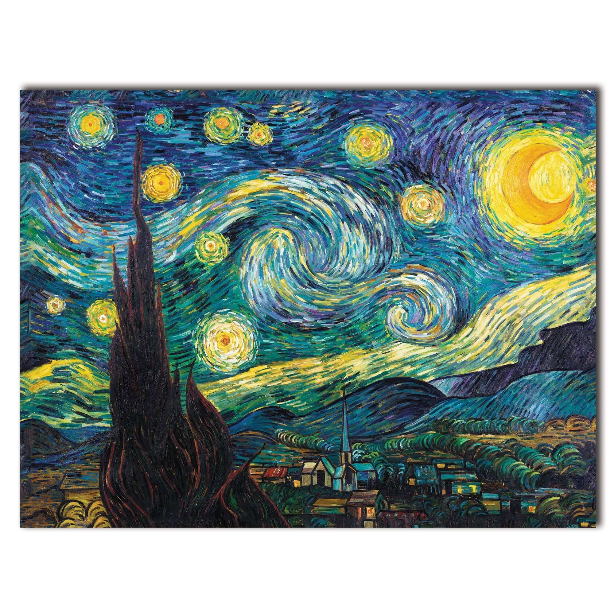 Starry Night by Vincent Van Gogh Painting Print on Rolled Wrapped