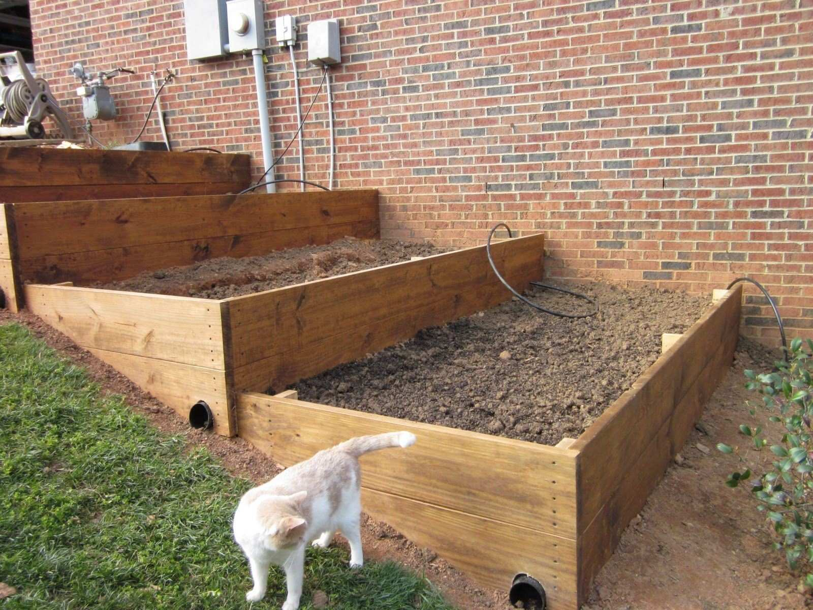 raised beds on slope Google Search gardening