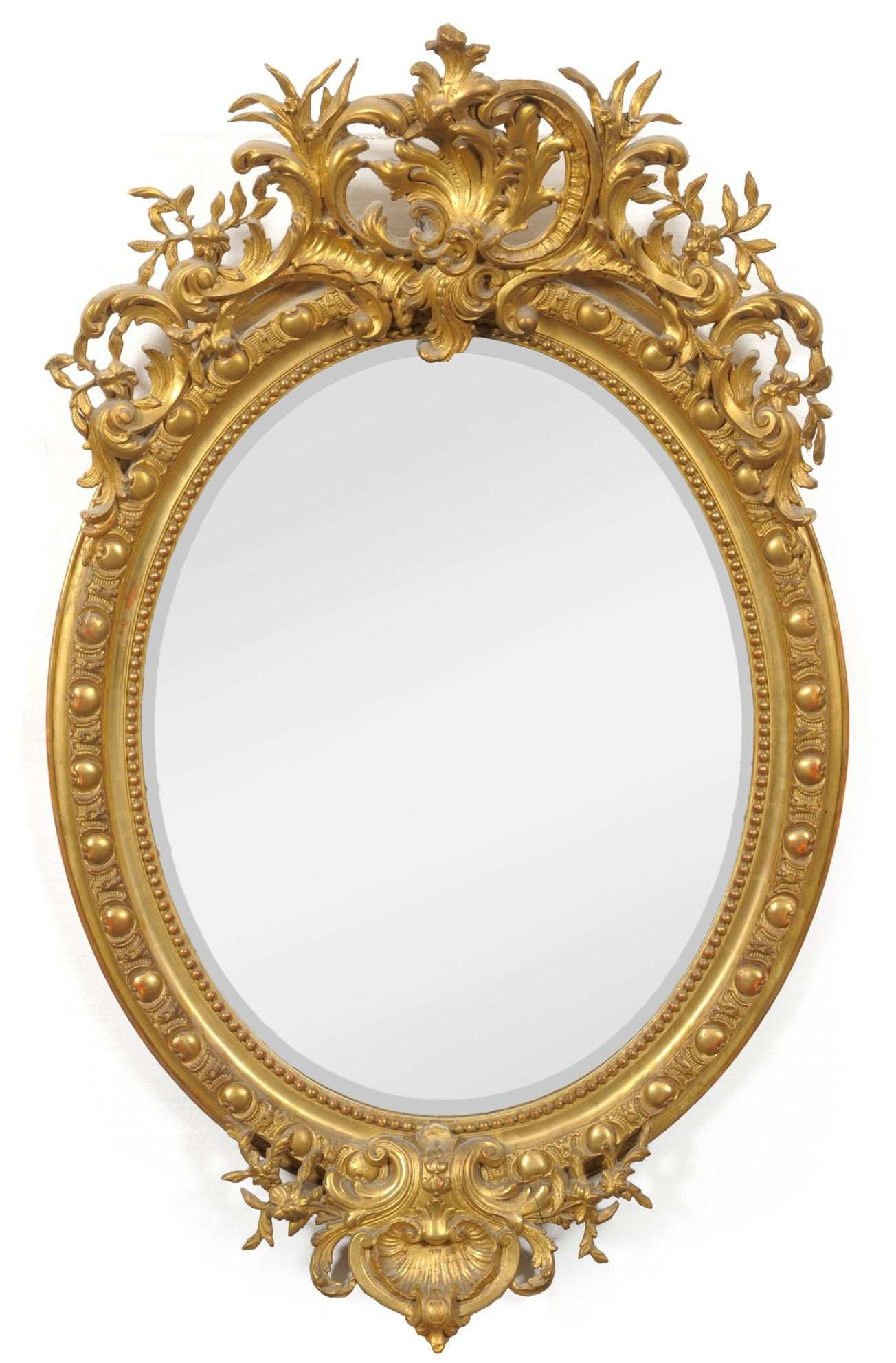 Tennants Auctioneers An Early Victorian Gilt and Gesso Oval Wall
