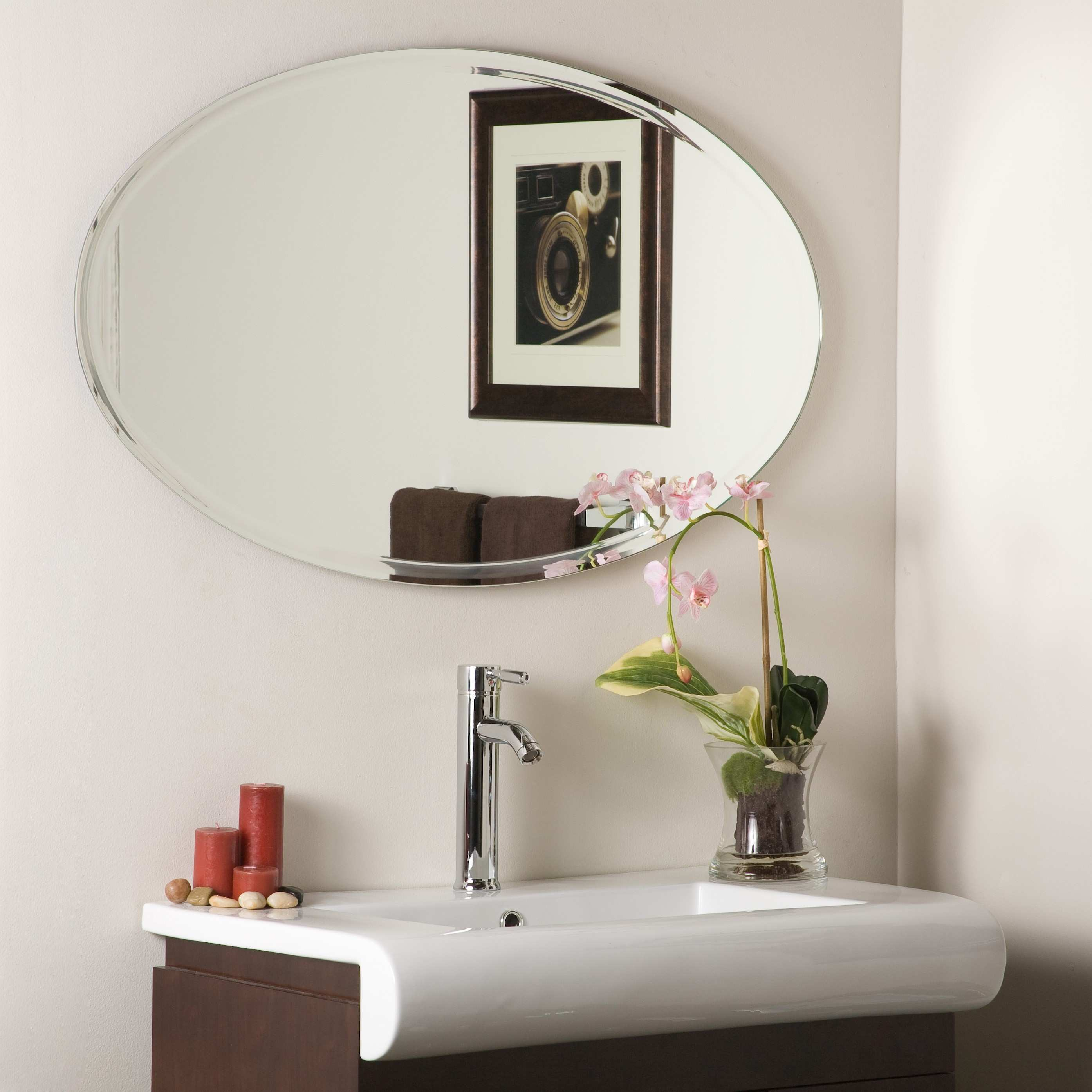 Decor Wonderland Extra Long Oval Wall Mirror Beyond Stores In Sizing