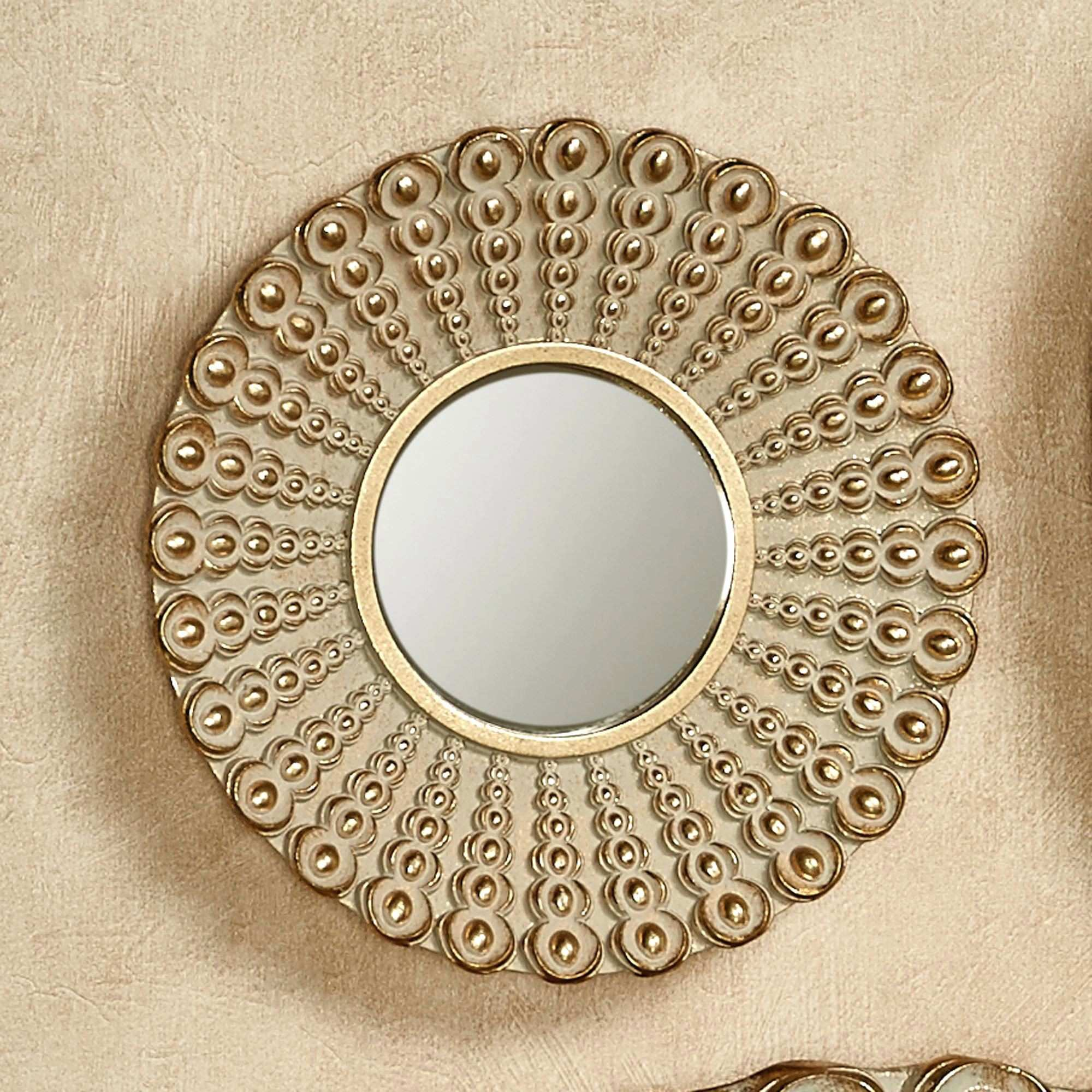 Wall Mirrors 20 Glass Small Round Floating Wall Mirror Side View