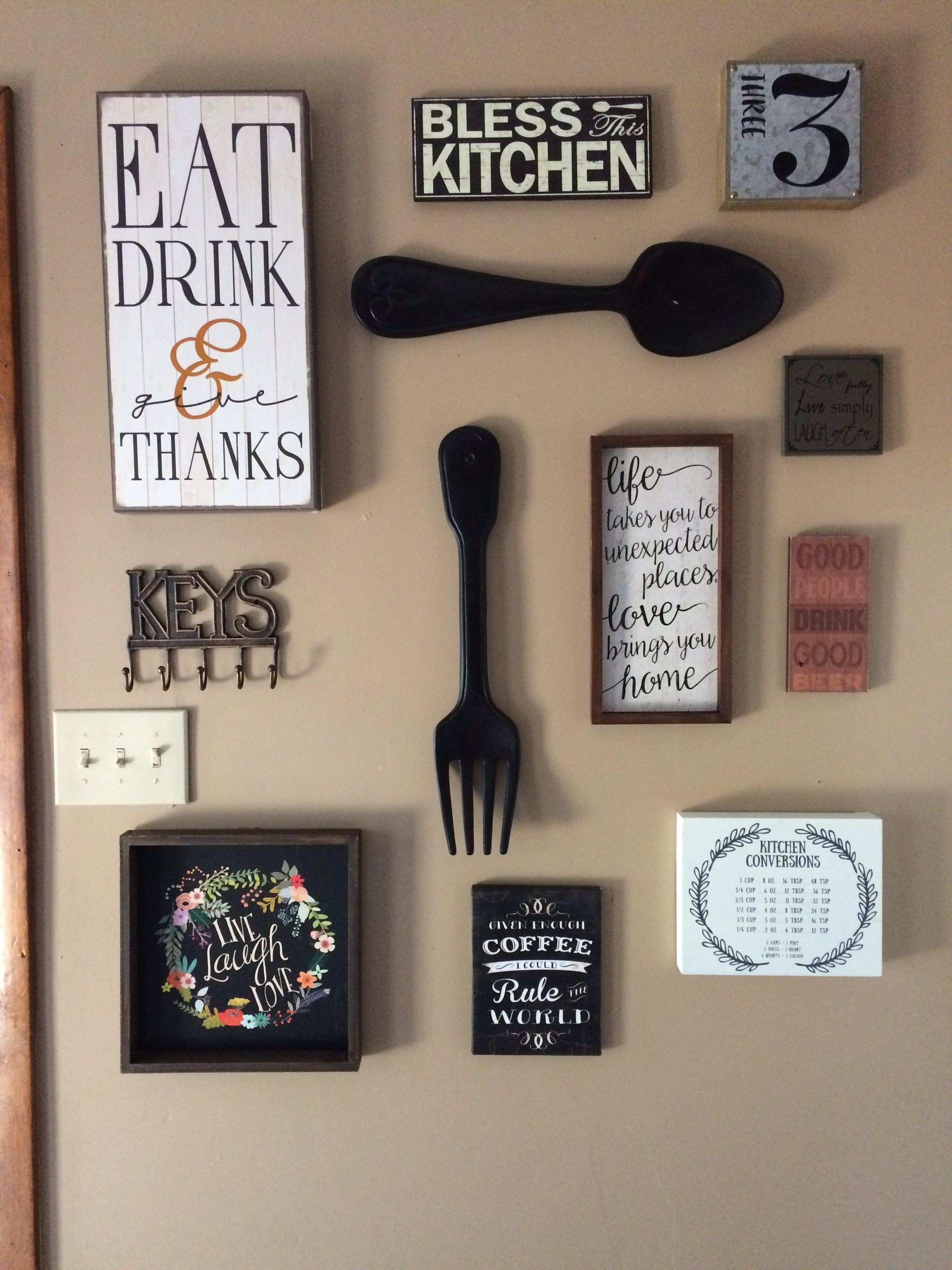 Over the Door Wall Decor Luxury My Kitchen Gallery Wall All Decor From Hobby Lobby and Ross