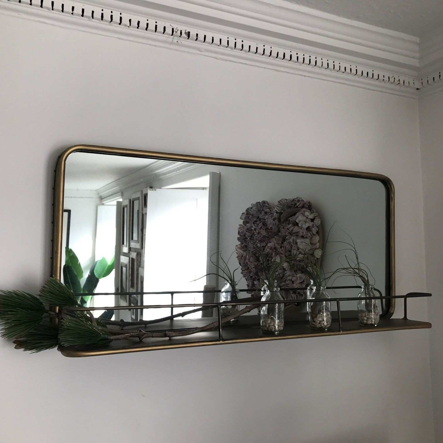 Industrial Style Bronze Finish Landscape Carriage Mirror
