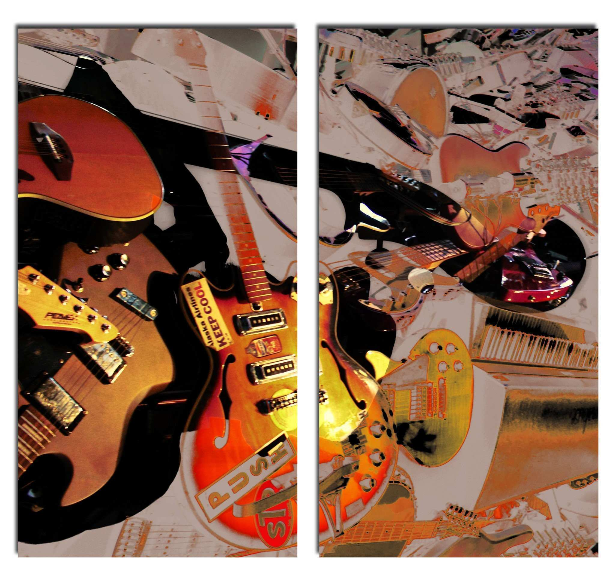 Ready2HangArt The Color of Jazz XX Oversized 2 PC Canvas Wall Art