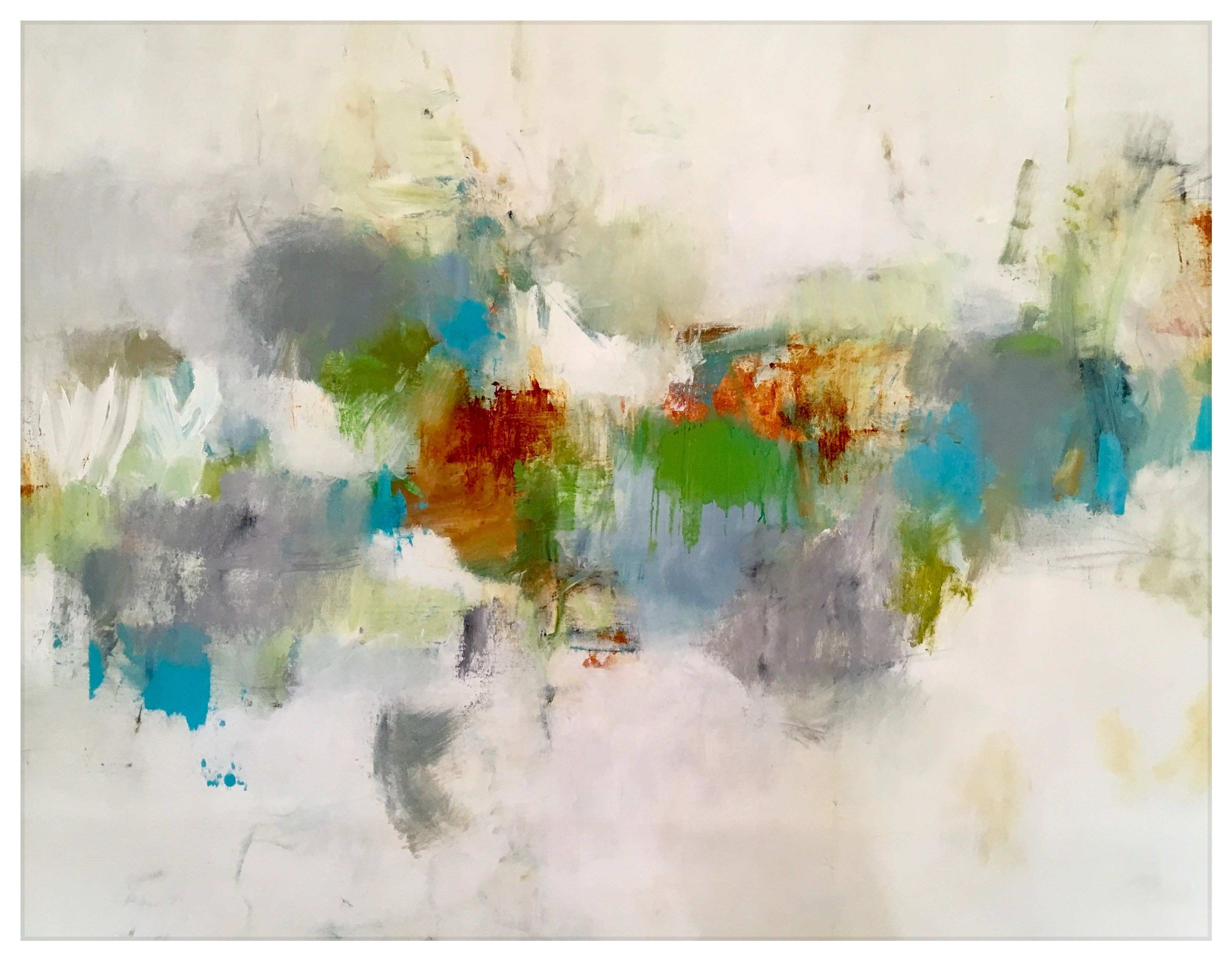 """Funky modern abstract original on canvas 30x50"""""""