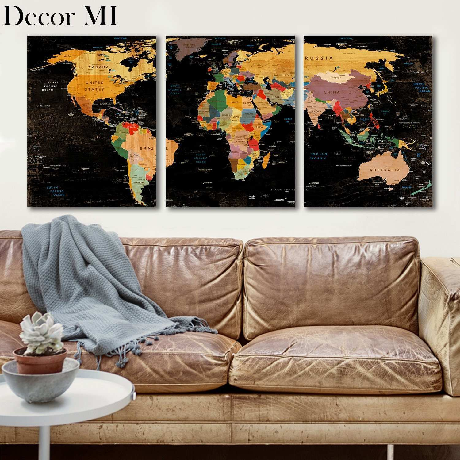 Oversized framed wall art inspirational vintage style world map oversized framed wall art inspirational vintage style world map framed wall decor pier 1 imports within gumiabroncs Gallery