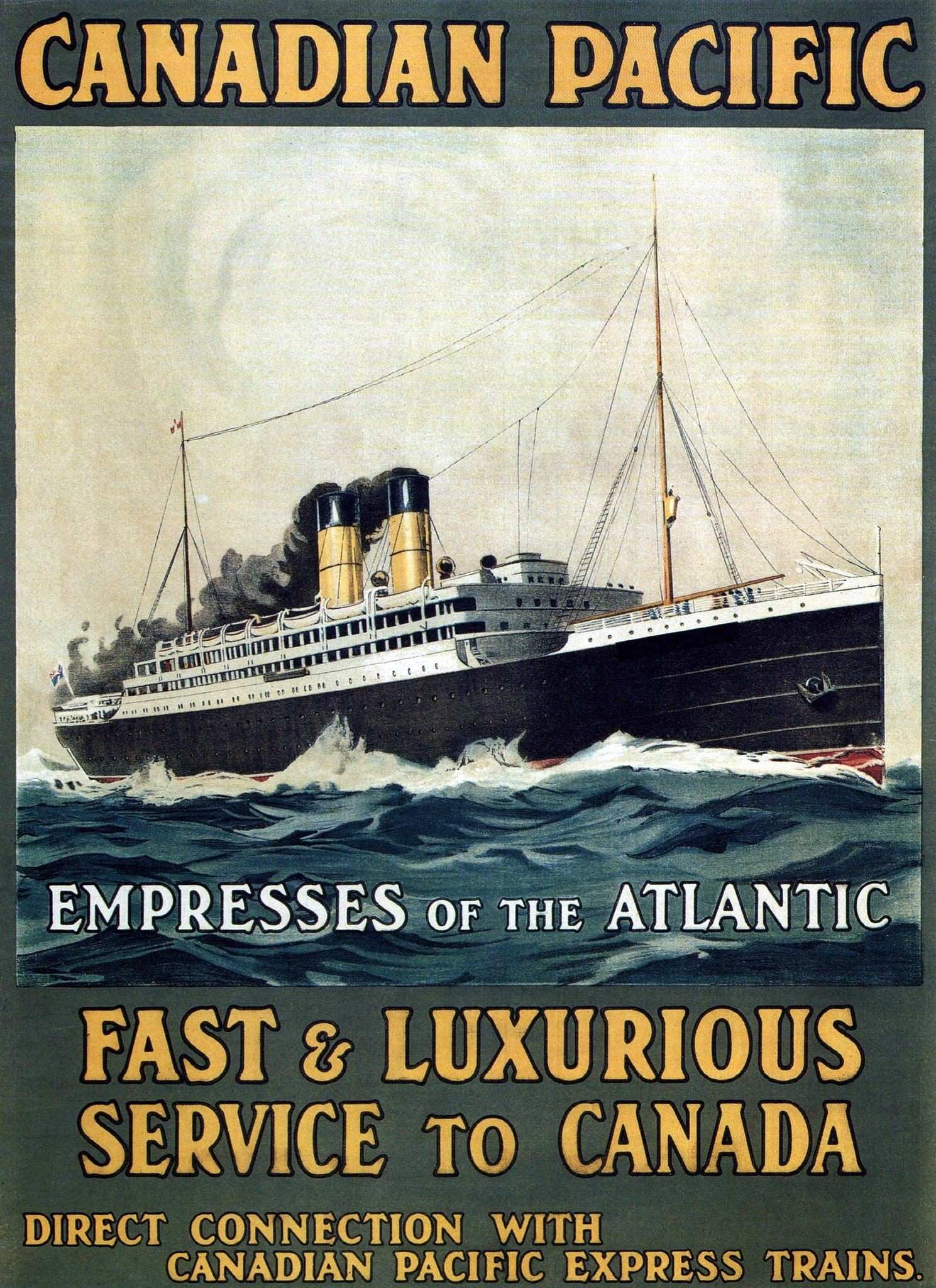 Fast & Luxurious Service to Canada 1910