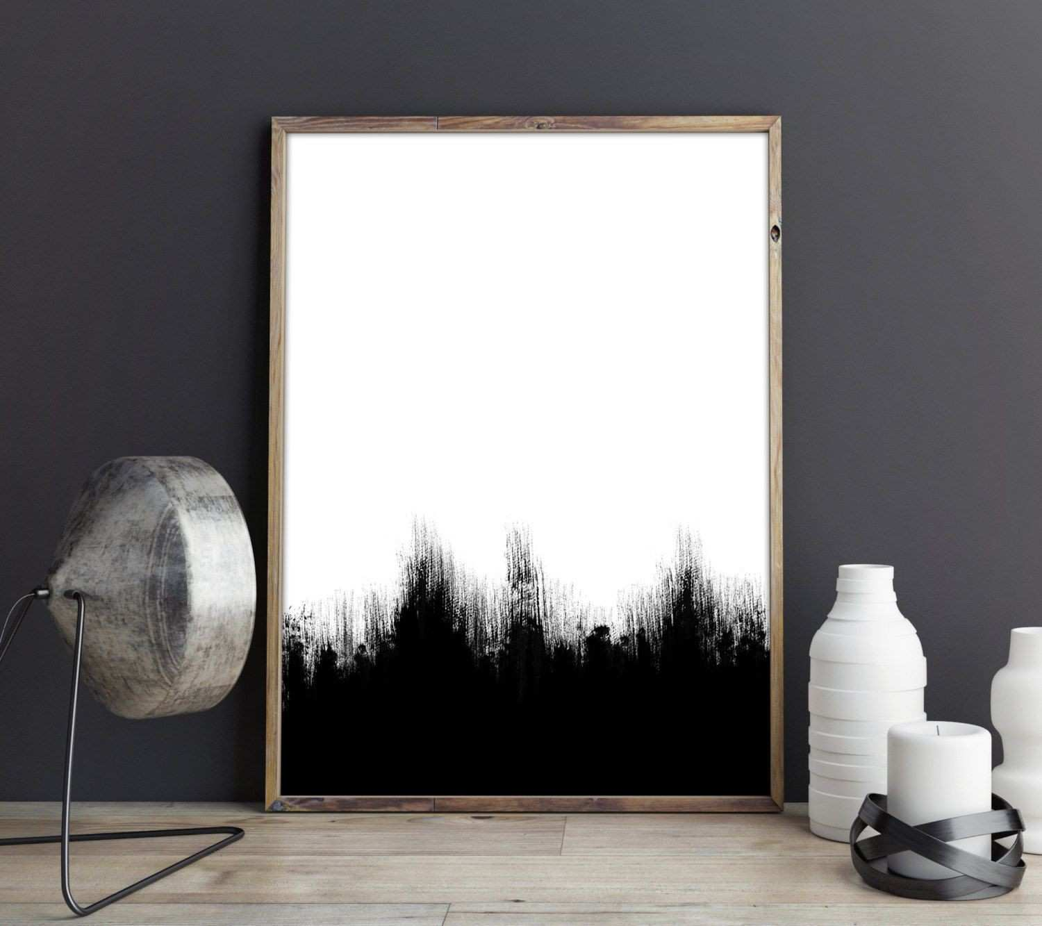 Abstract Print Nordic poster Minimalist poster Black and White