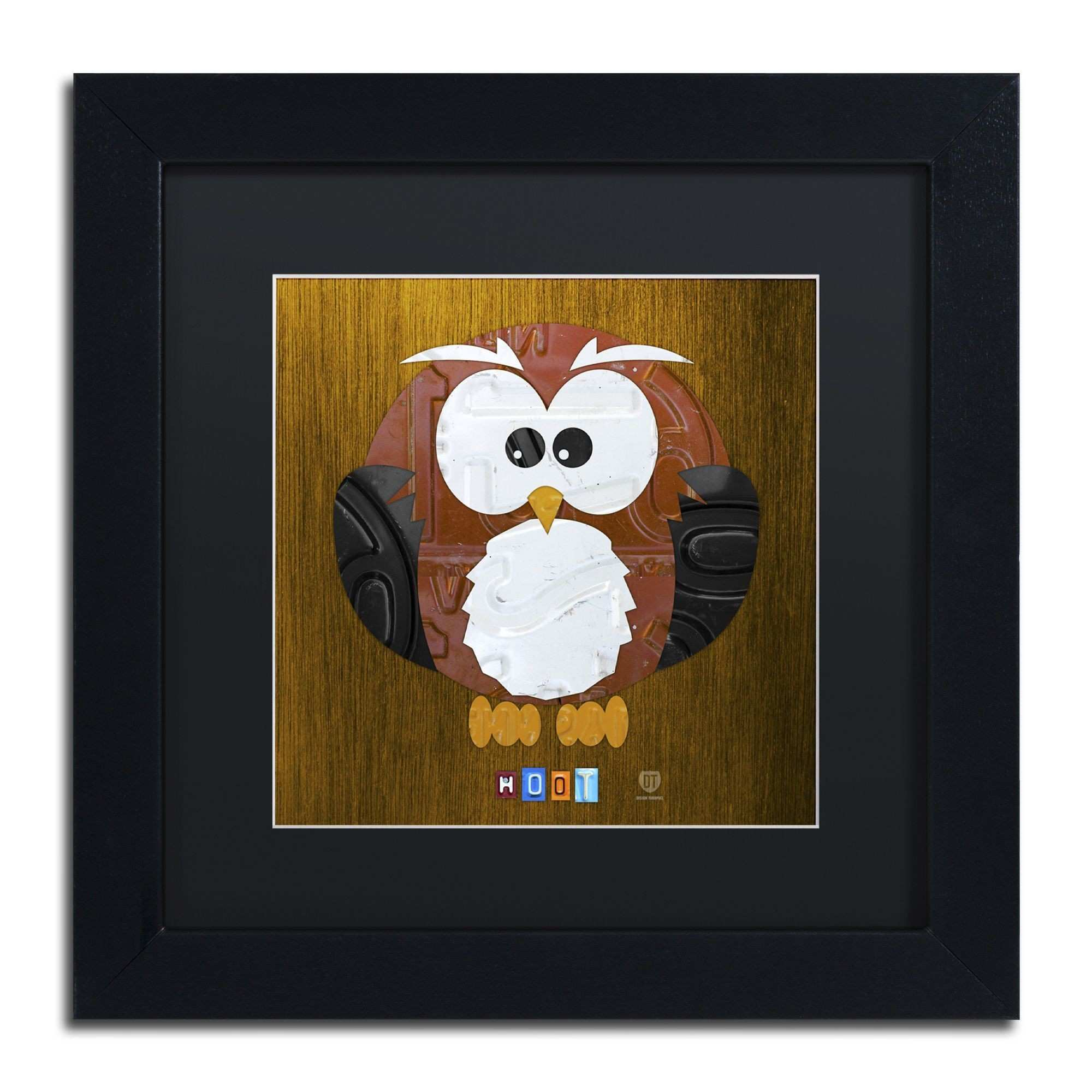 Design Turnpike Hoot The Owl Matte Framed Canvas Wall Art