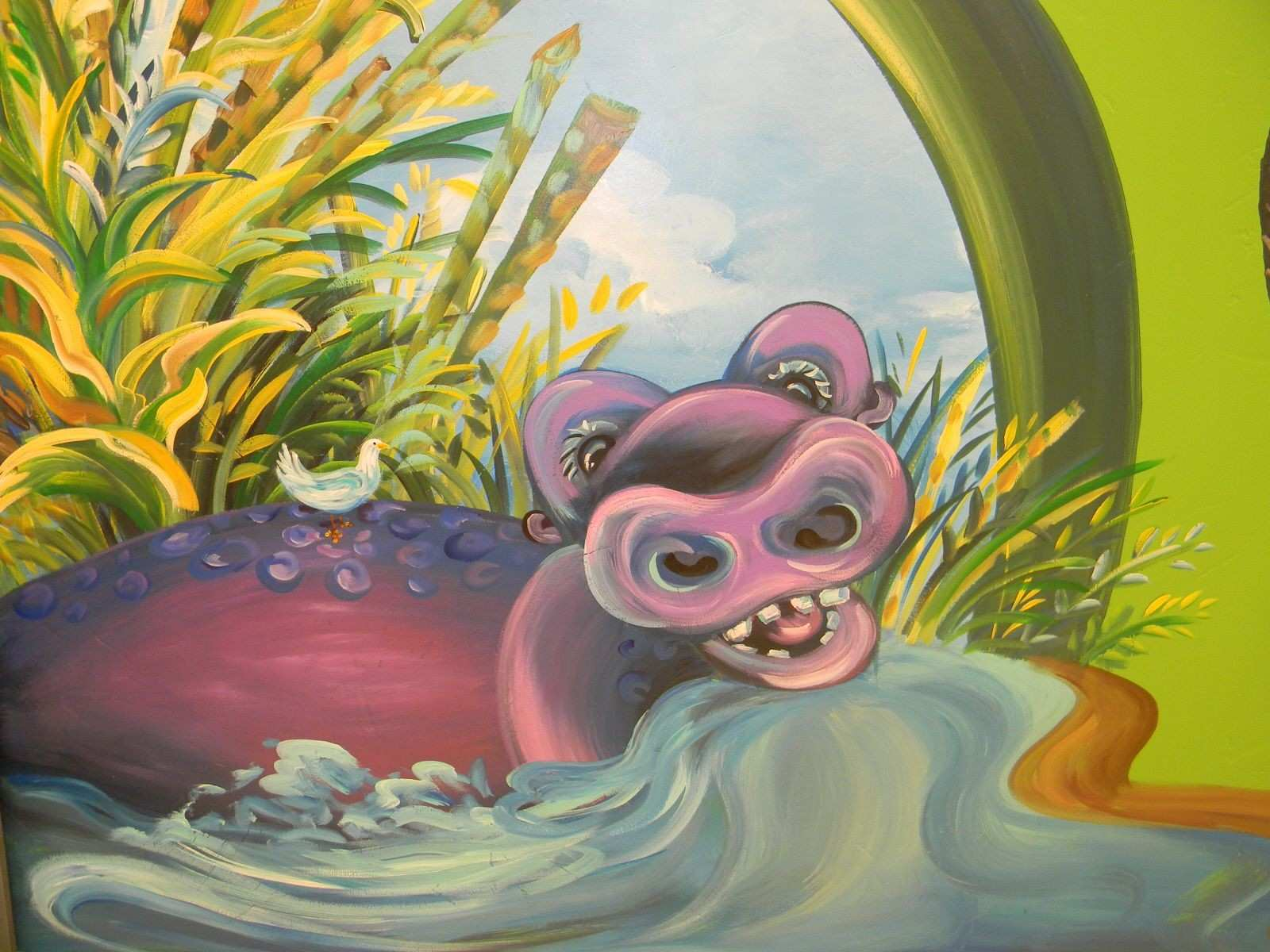 Hippo mural Favorite Places