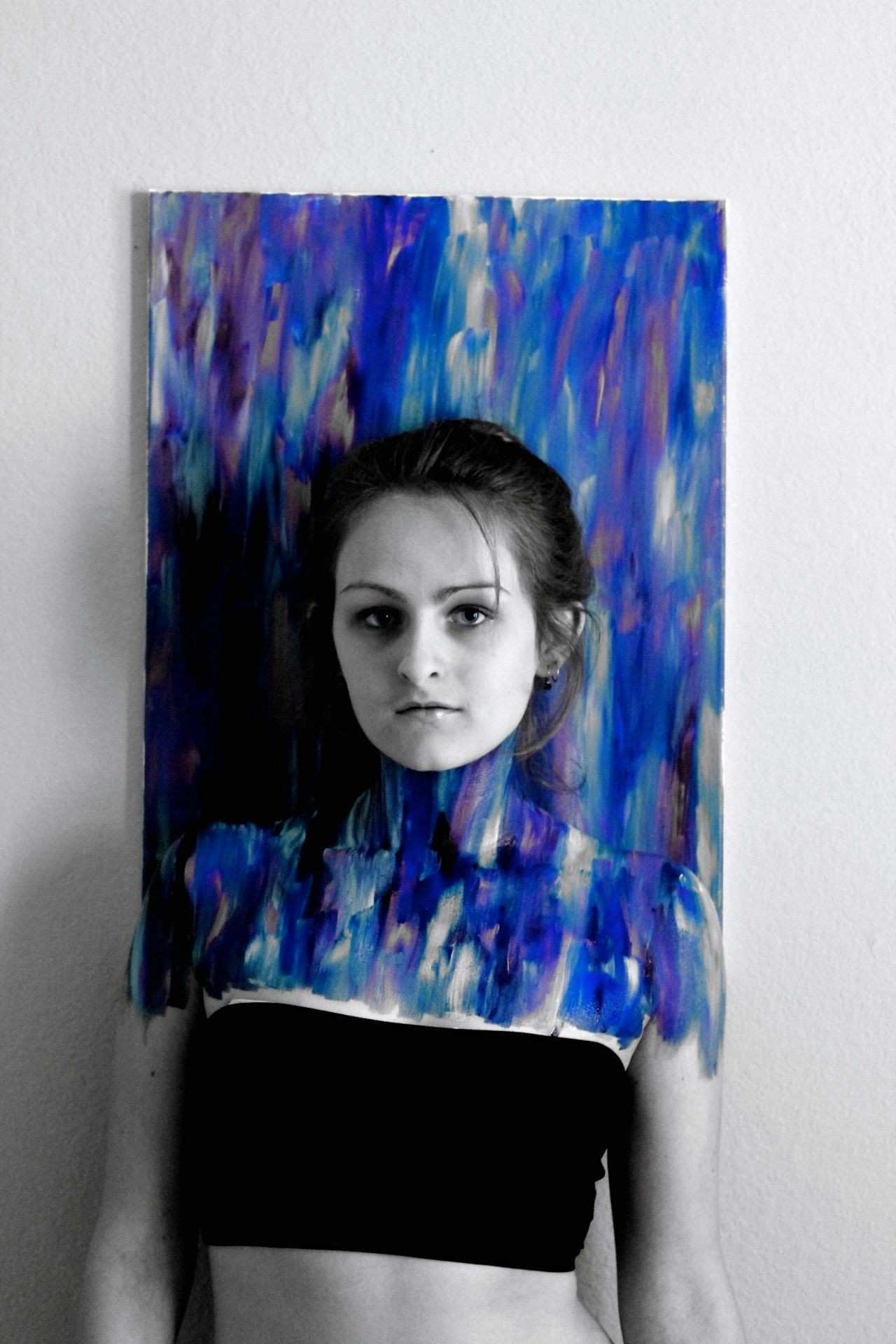 Second take on optical illusion body painting Created the canvas