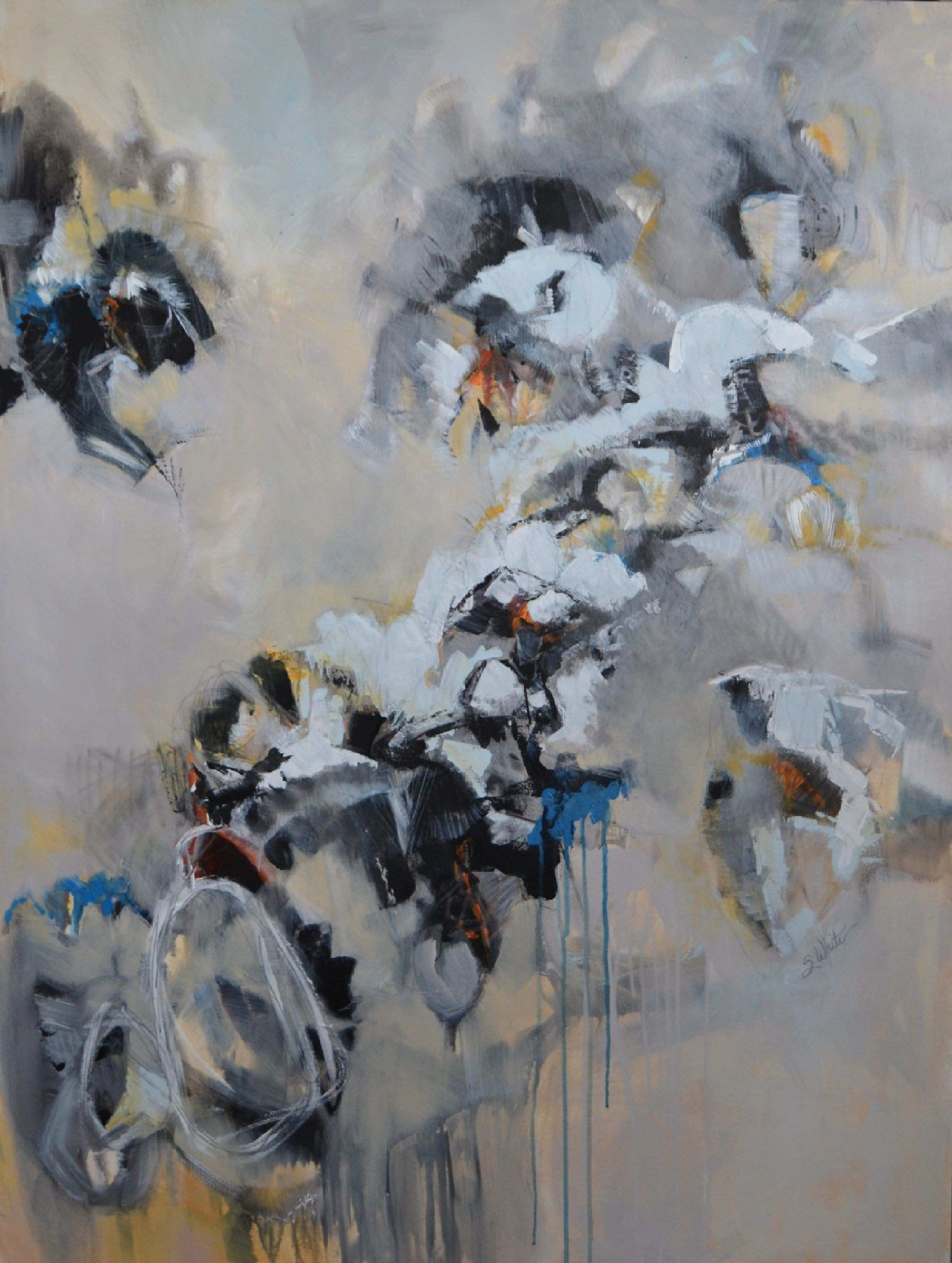 sallie white until we disappear to her in a dream 48x36 mixed