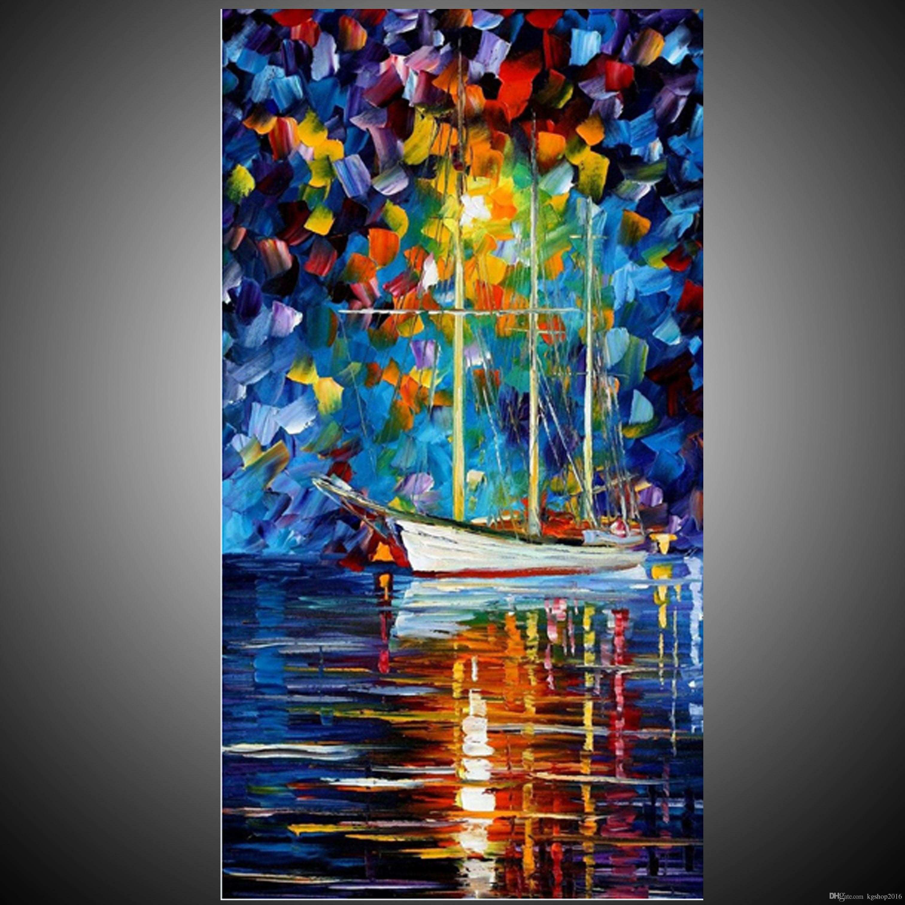 KG Handmade Acrylic Painting Canvas Art Knife Paintings River