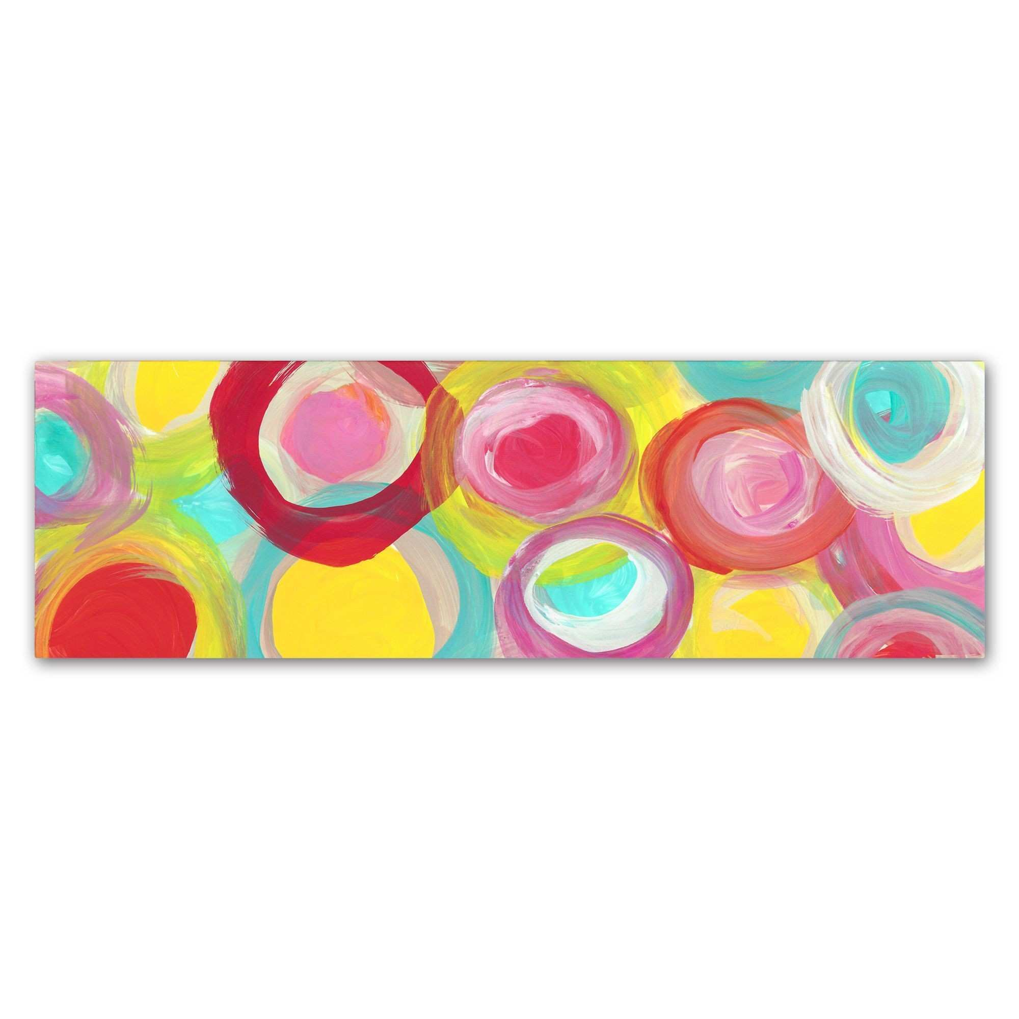 Amy Vangsgard Colorful Sun Circles Panoramic 1 Canvas Art