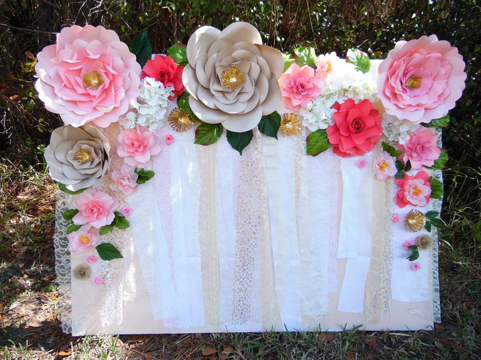 how to make a paper flower wall Fastnchrock