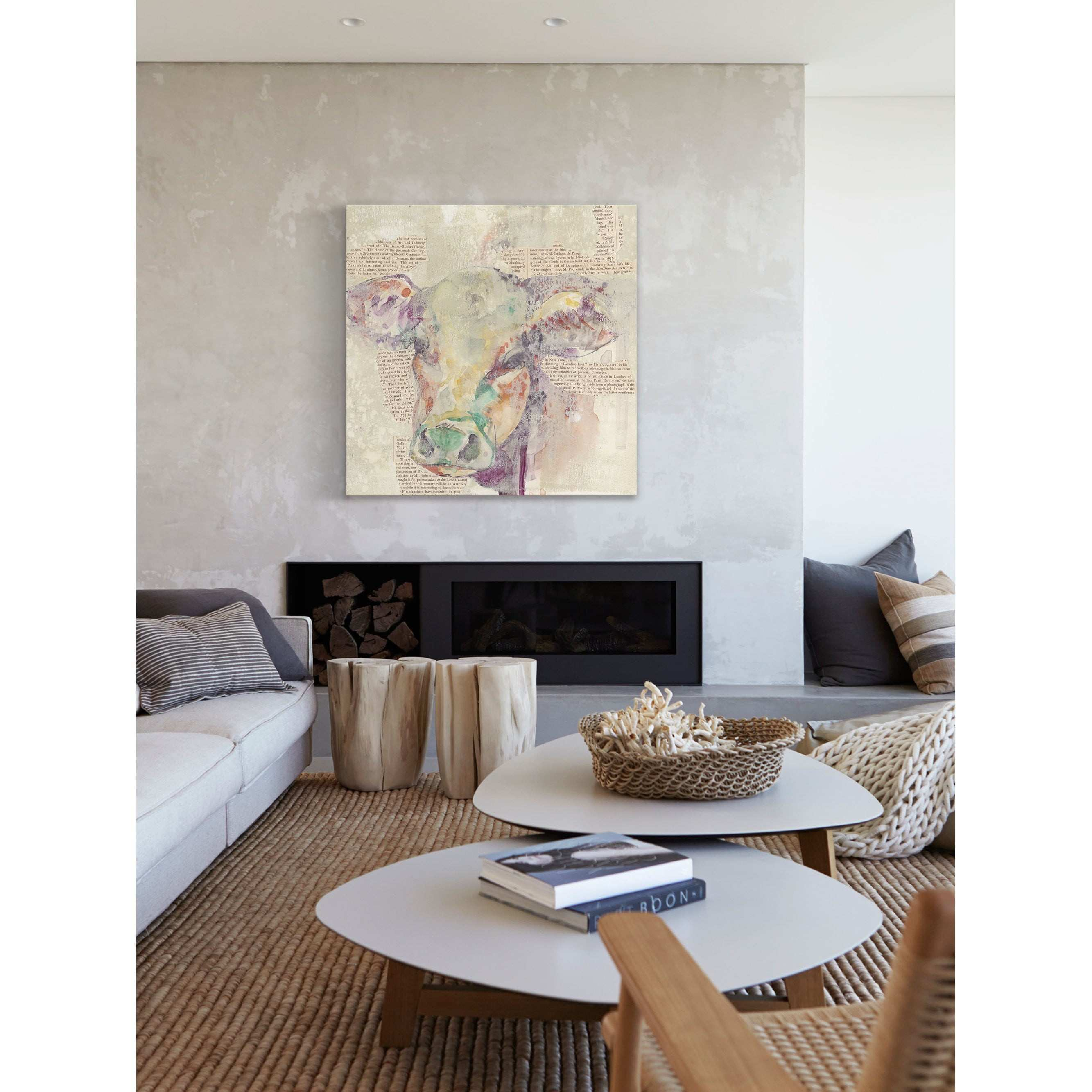 Shop Farm Collage Ii Painting Print Wrapped Canvas Purple