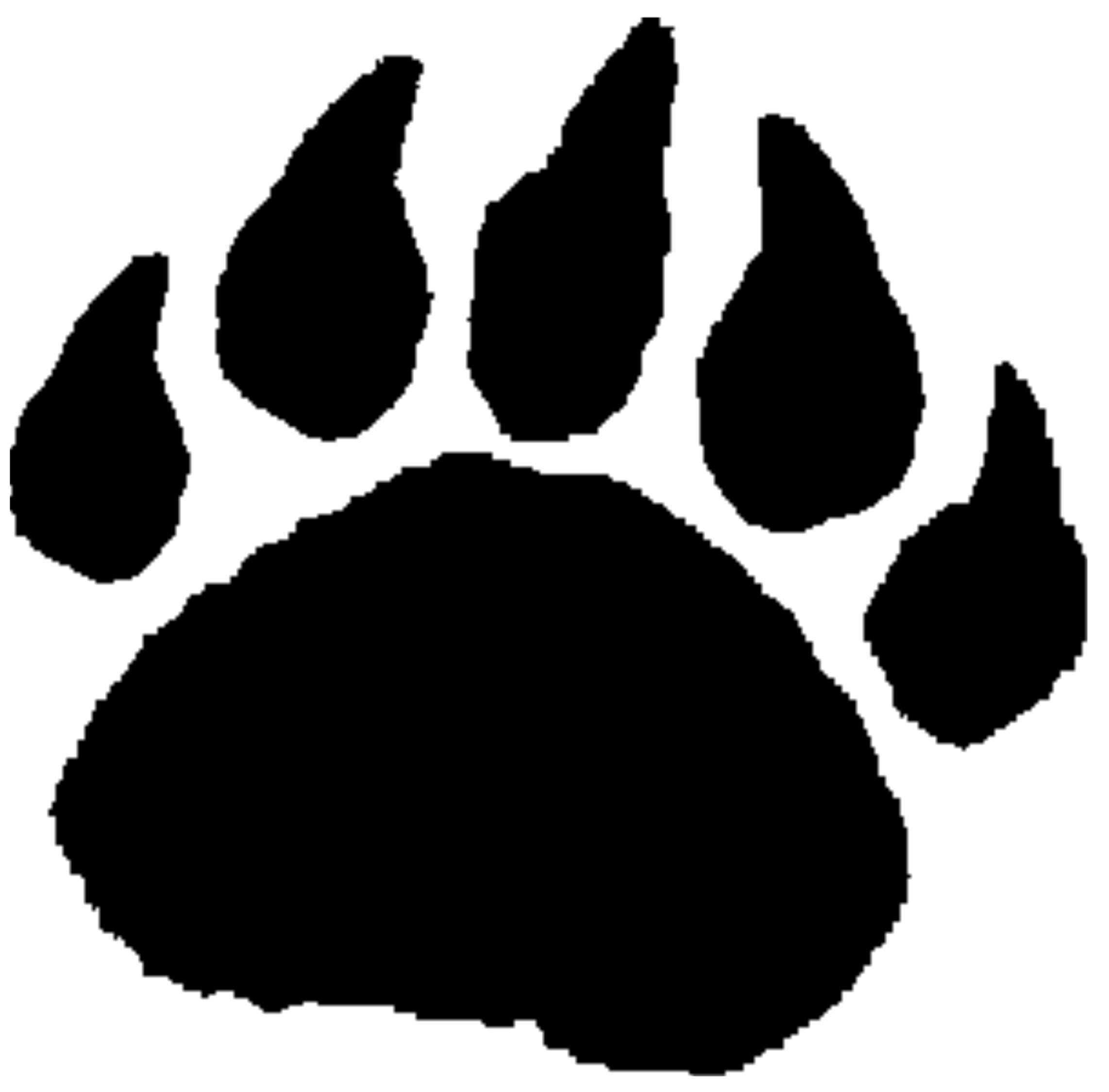 Pawprint Silhouette at GetDrawings