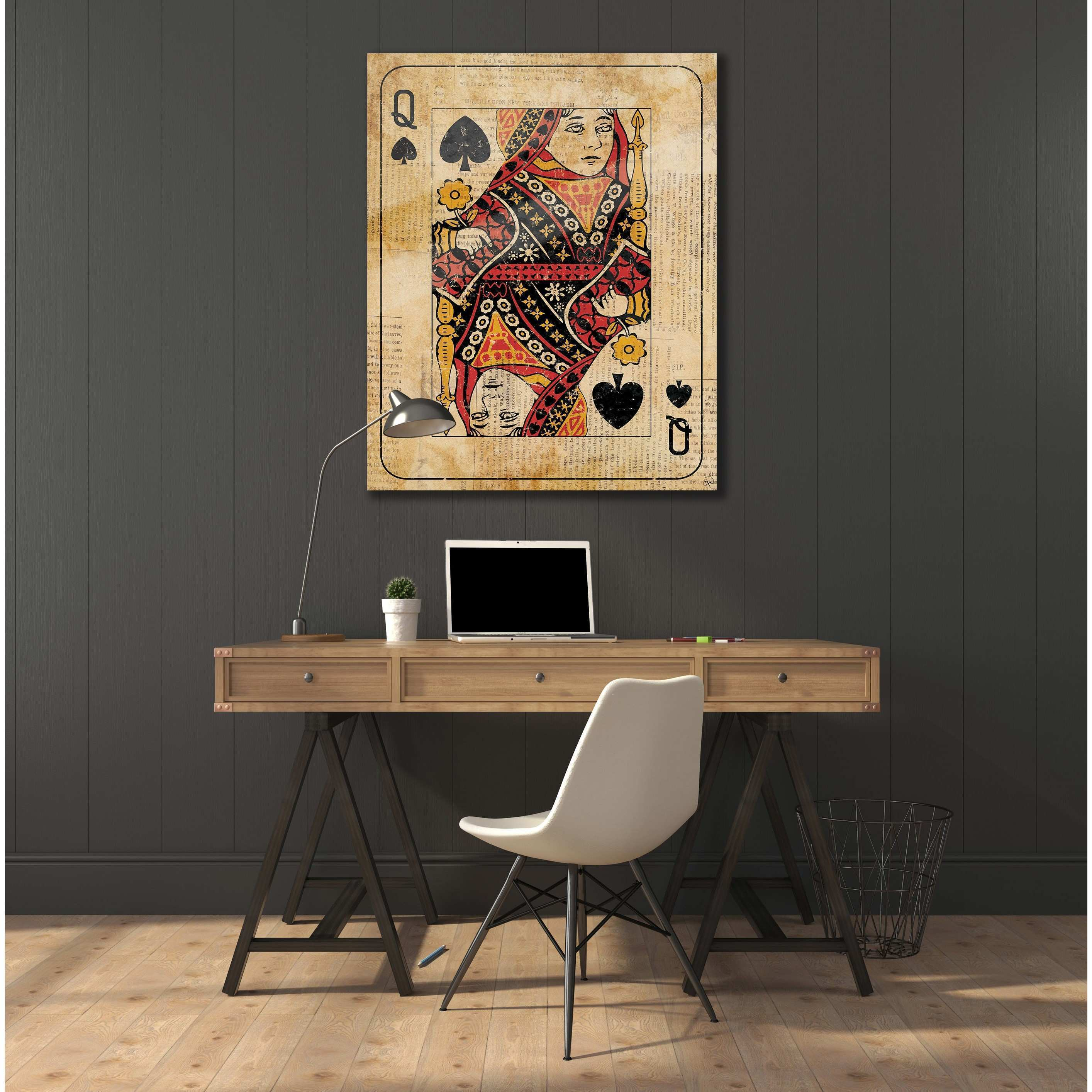 Shop Vintage Queen Playing Card Wall Art on Acrylic Free Shipping