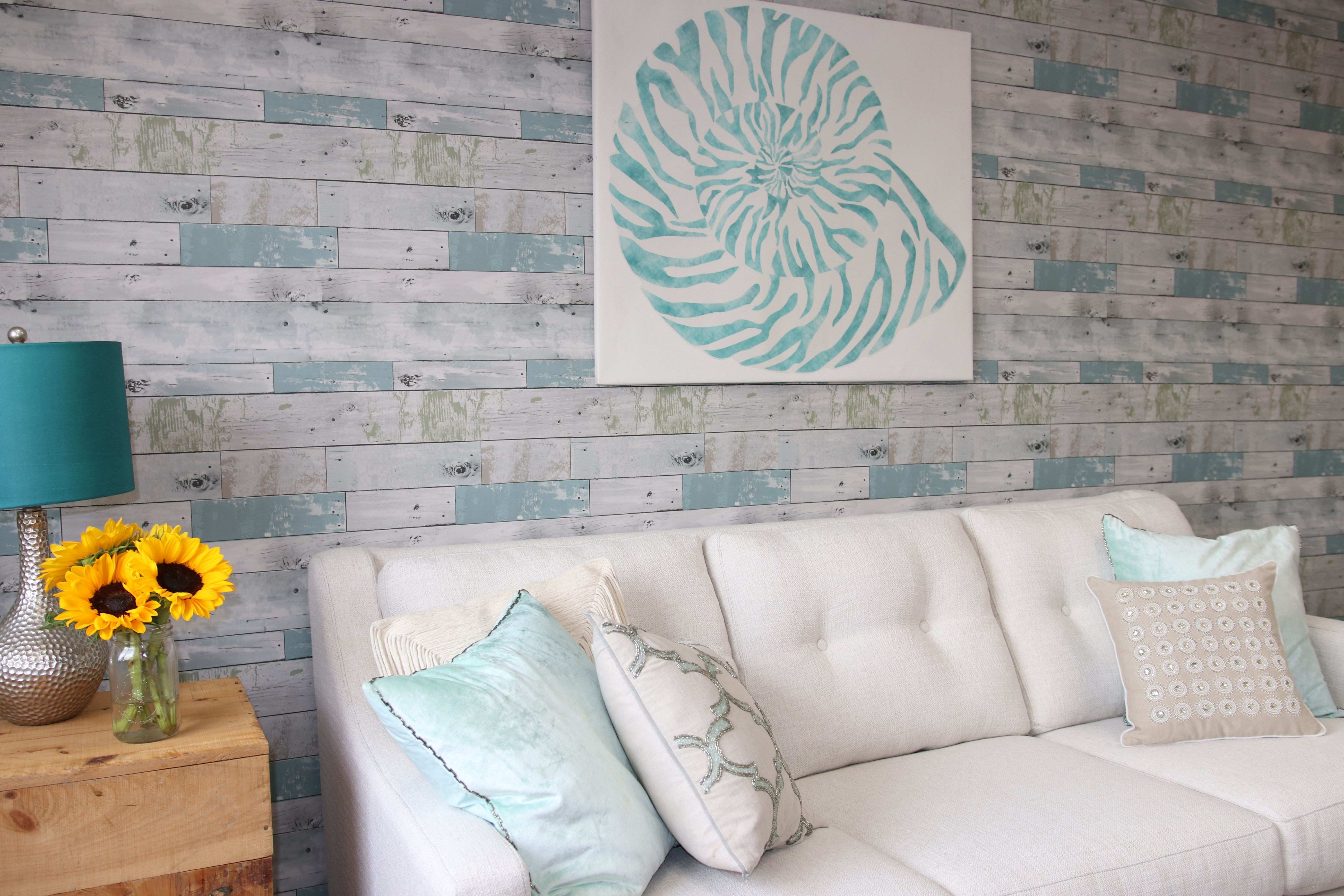 Peel and Stick Wall Murals Inspirational Nautilus Shell Wall Art & Beachwood Peel and Stick Wallpaper