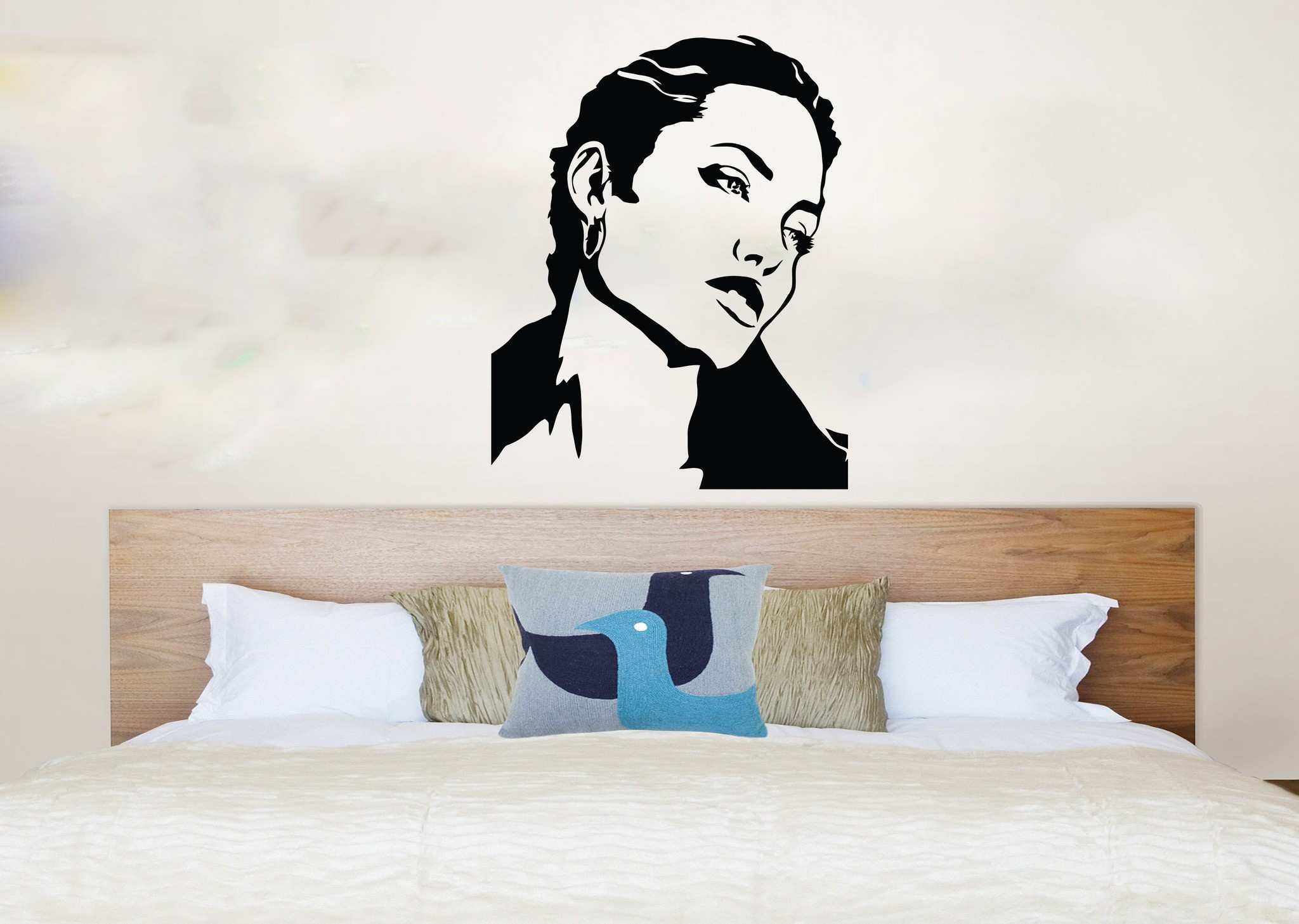 Headboards Headboard Wall Decal Awesome Wall Decals For Bedroom