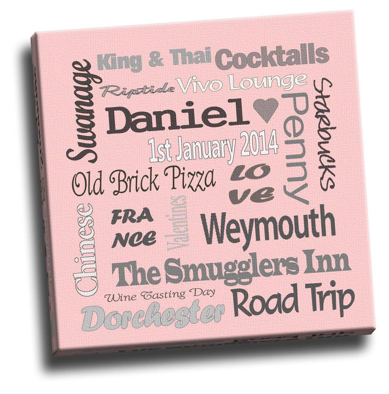 Personalised Canvas with words of your choice to make up your very