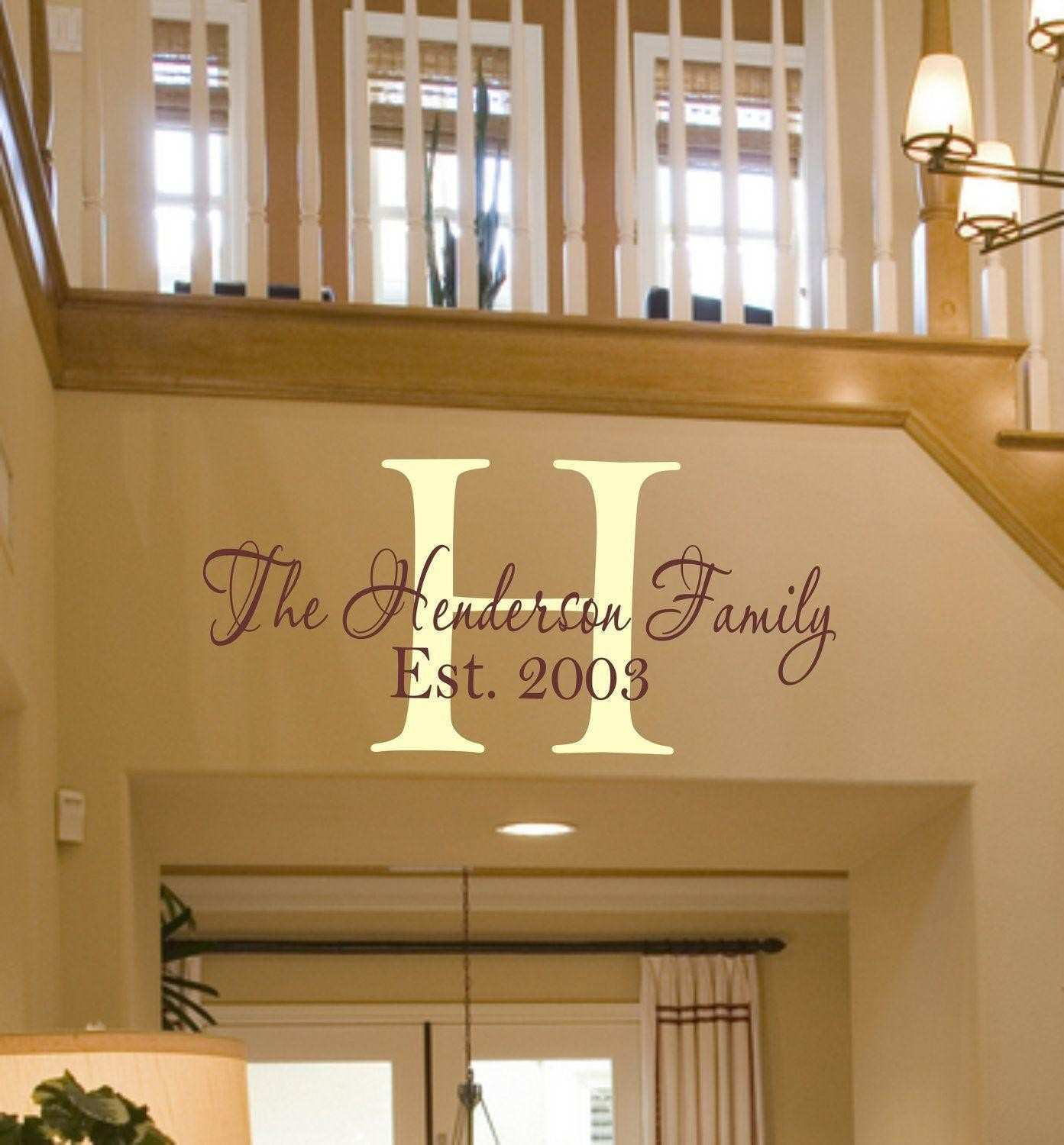 Home Design Customized Wall Decals Beautiful Monogram Wall Decor