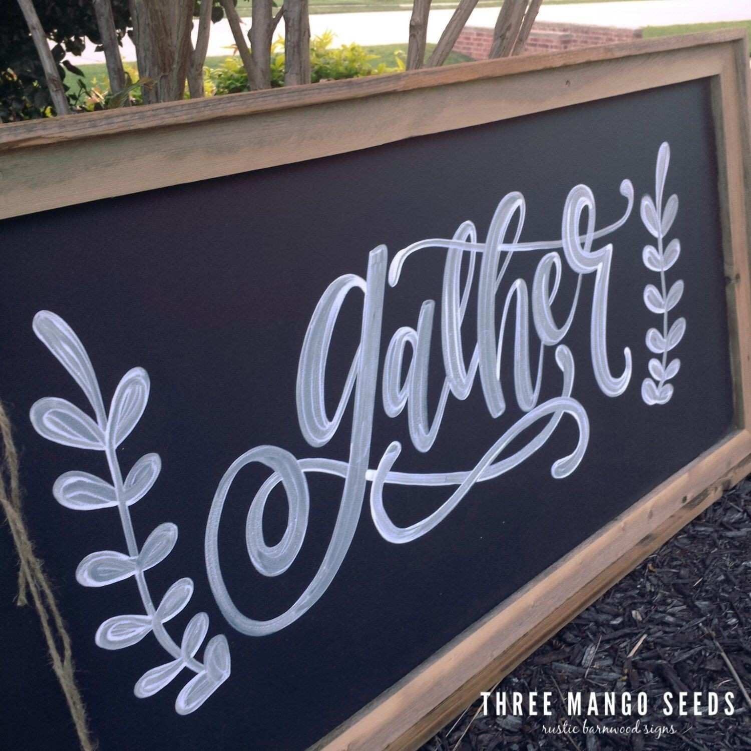 GATHER sign Wall Art Kitchen Decor Fixer Upper Style