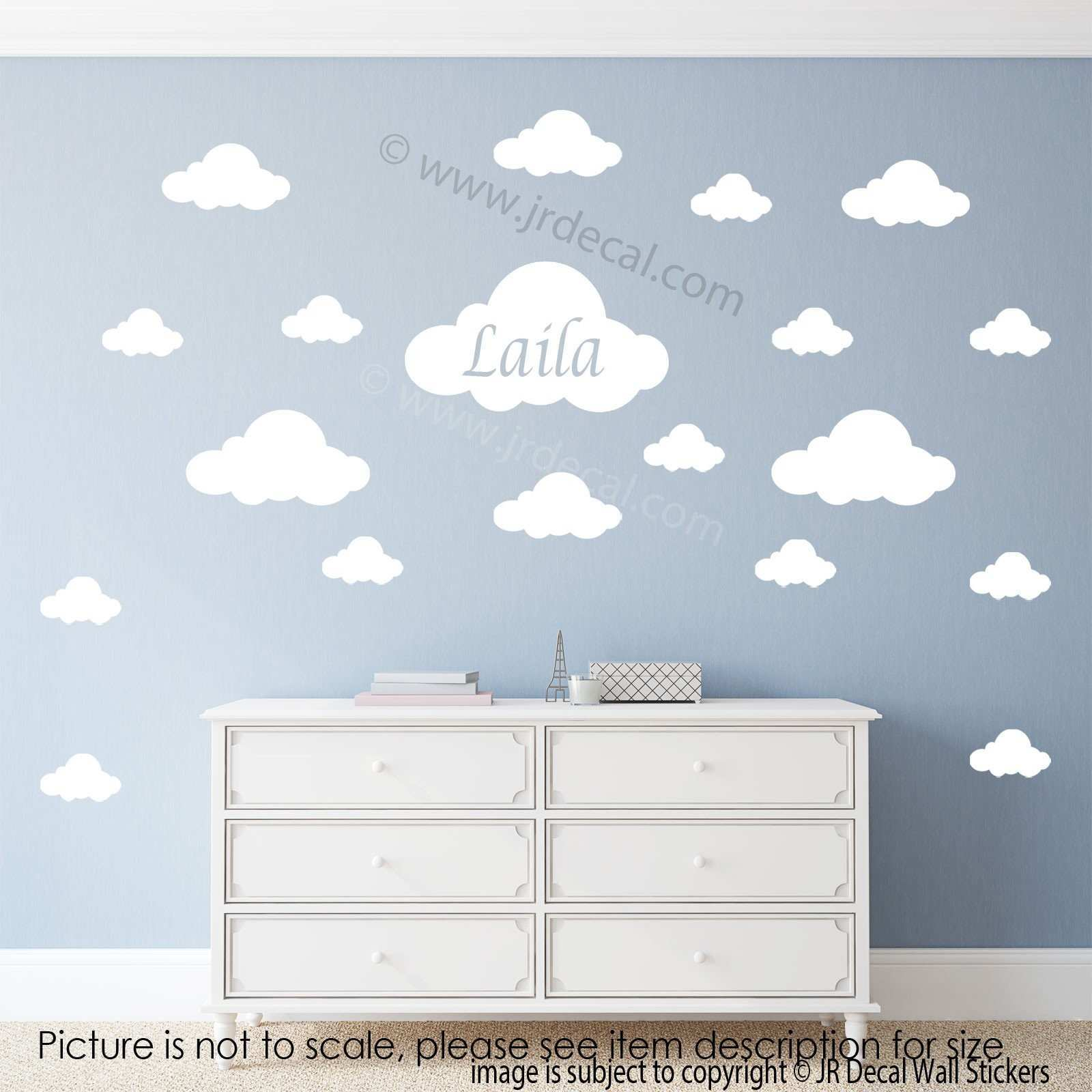 Cloud Wall Stickers Your Kid s Personalized Name Decal – JR Decal