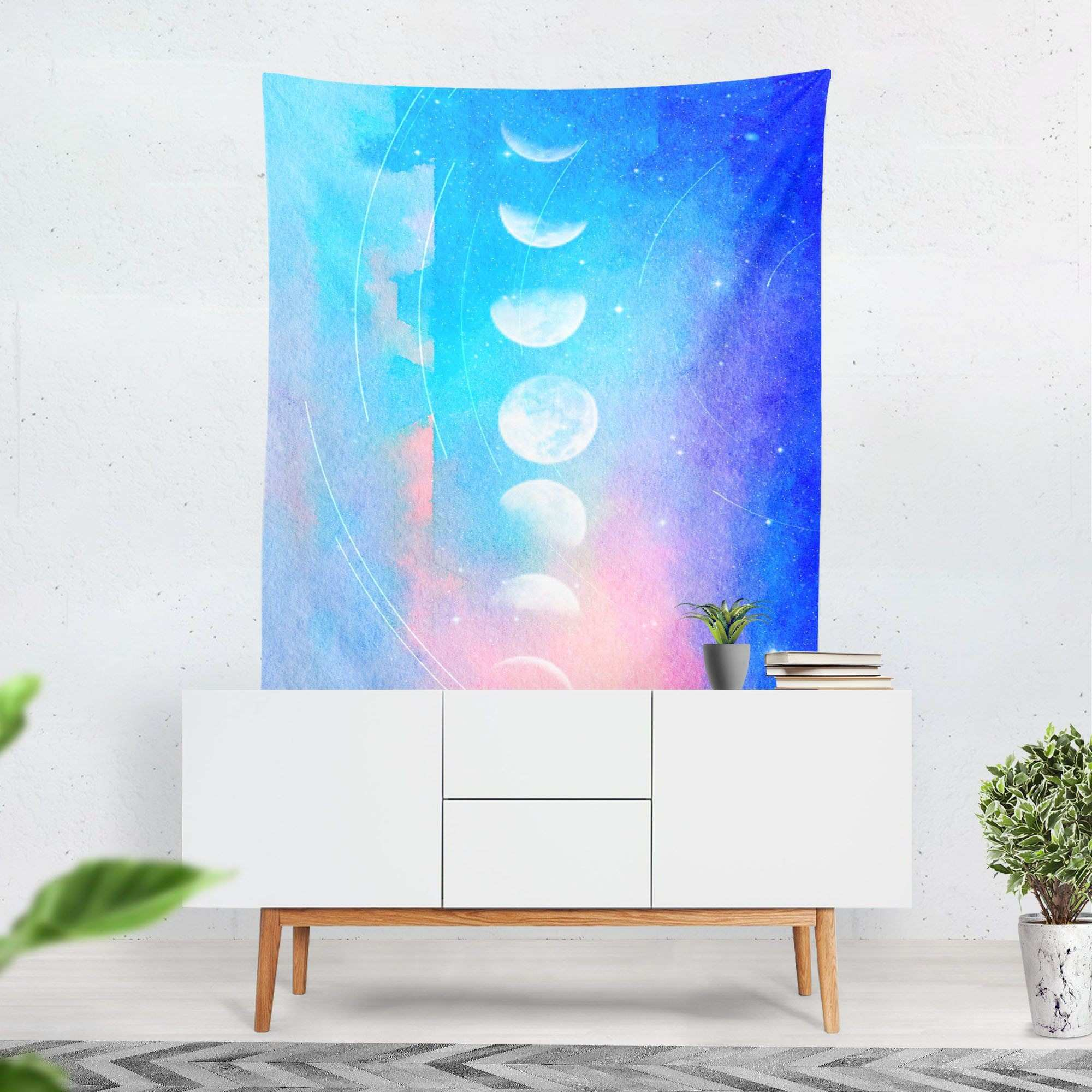 Moon Phase Tapestry Moon Tapestry Moon Phase Wall Art Abstract