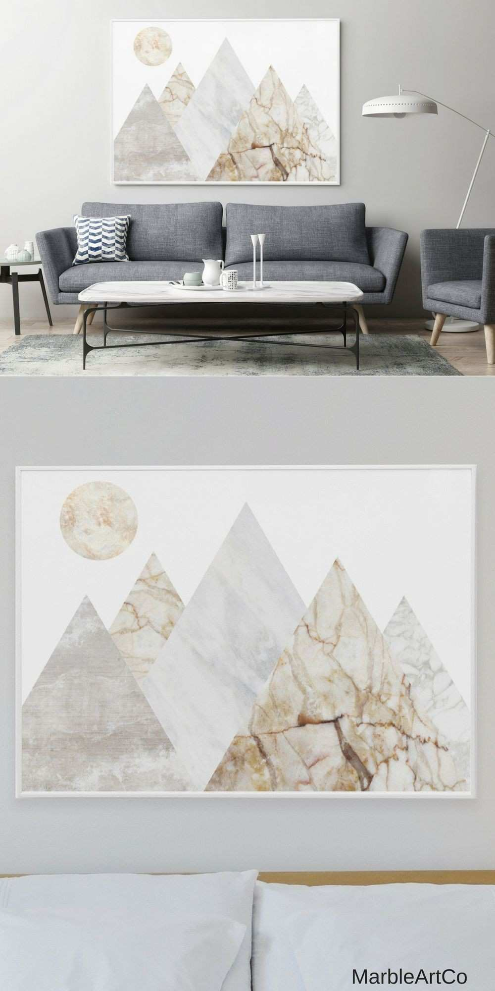 Mountains Extra Wall Art Bedroom Decor Nature Framed Art