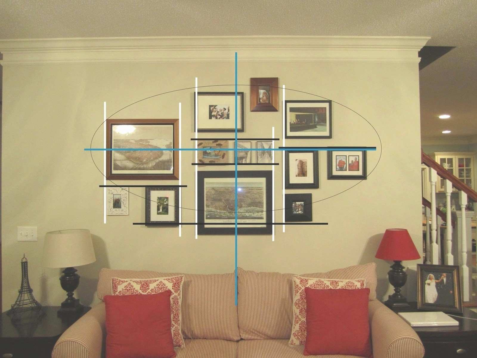 Interesting Wall Collage Ideas Living Room Picture Collage For