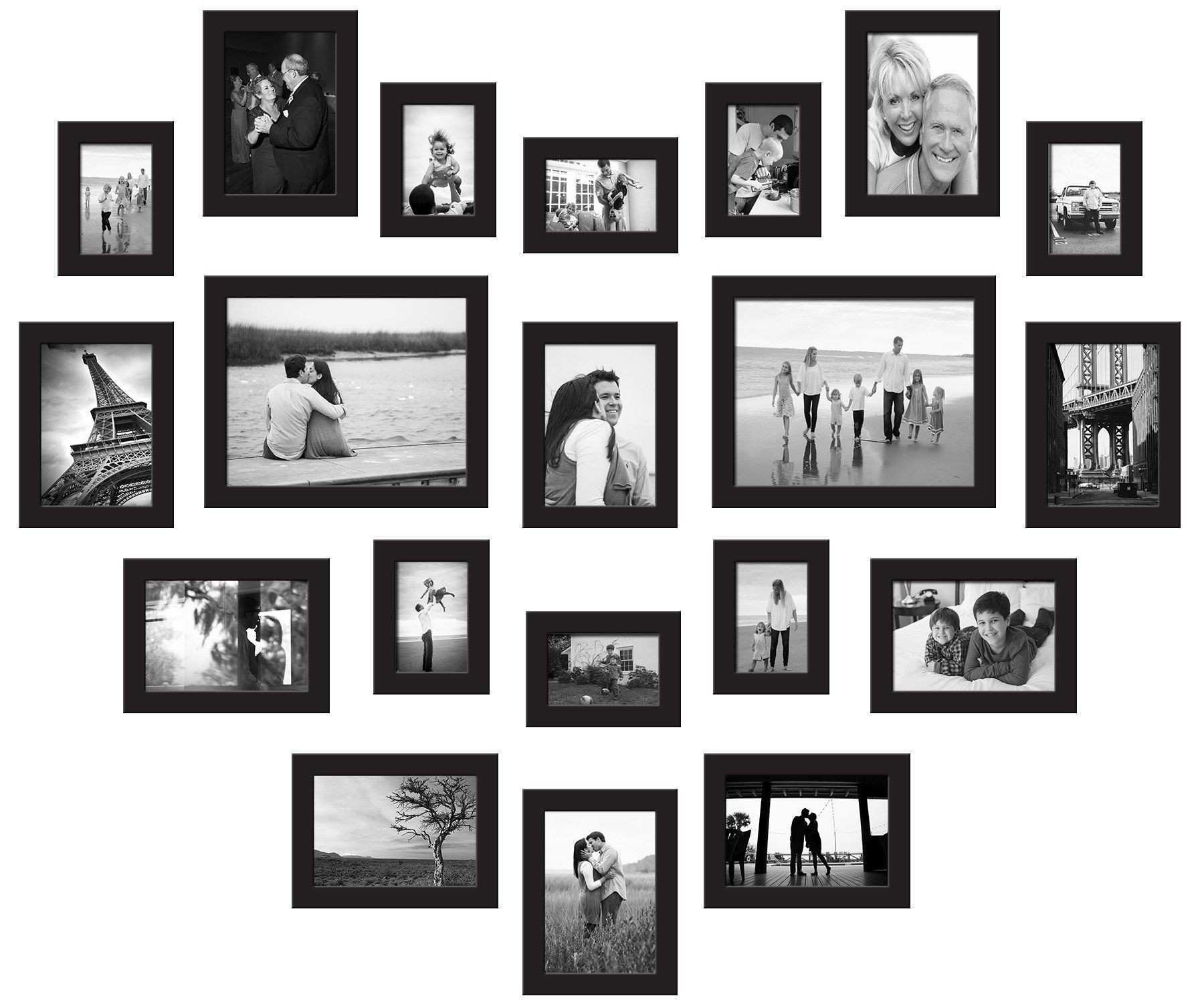 Amazon Red Co 20 Piece Gallery Frame Wall Collage Set