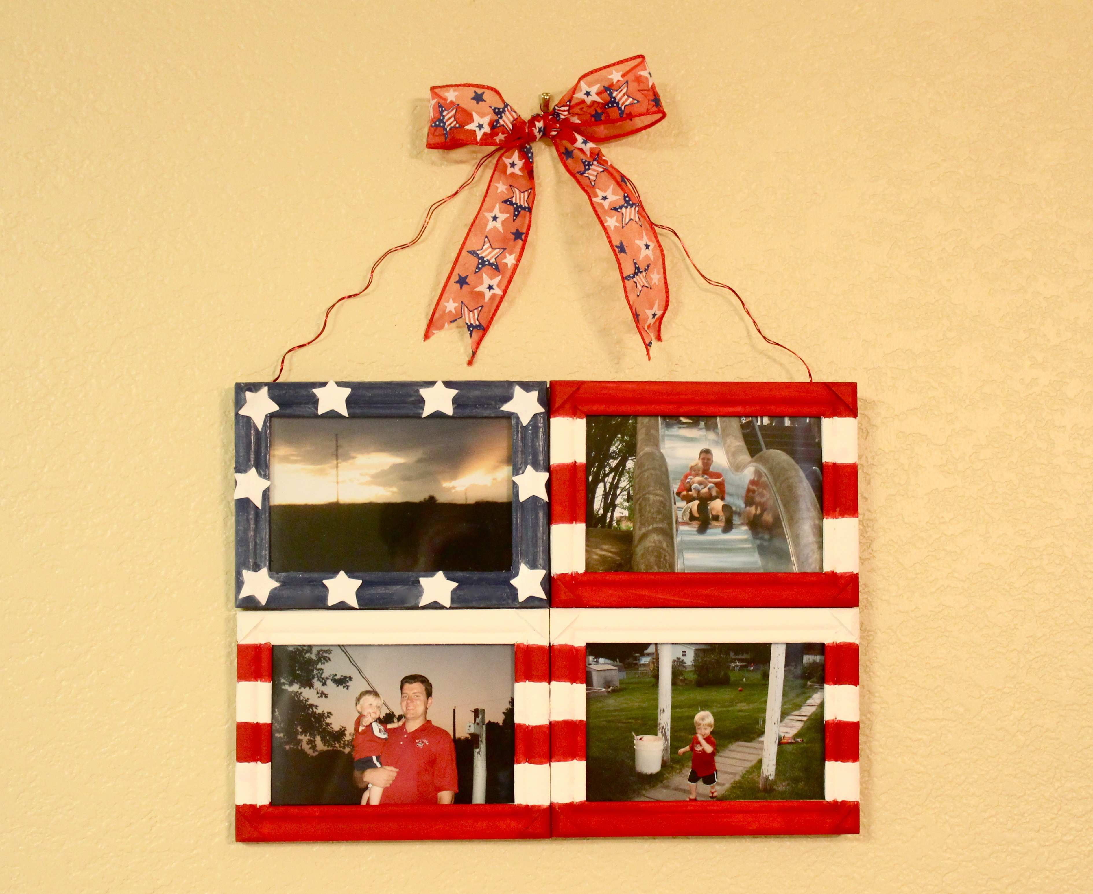 Picture Frame Collage Ideas for Wall Fresh Diy Flag Collage Frame ...