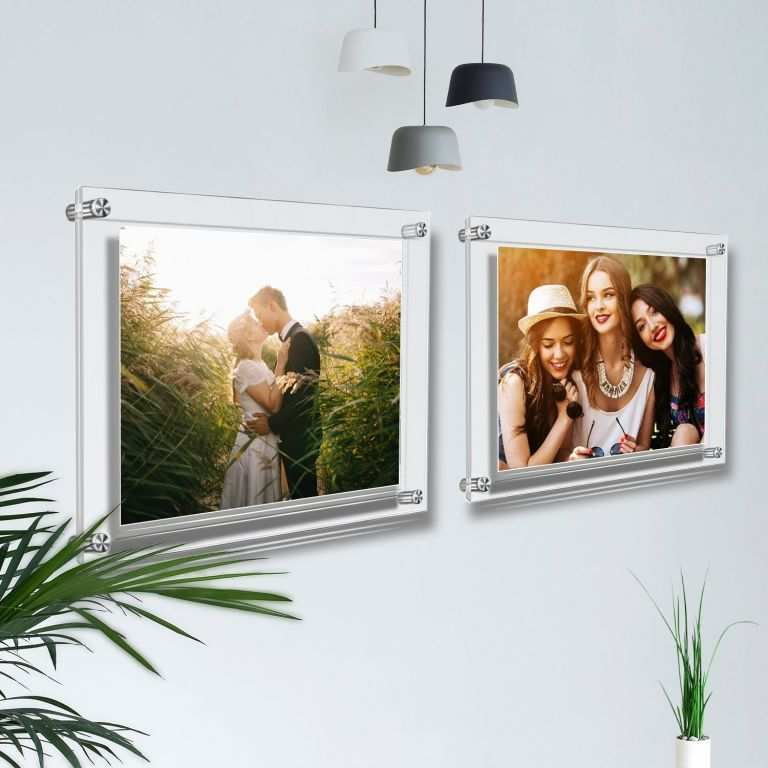 Picture Frame Holders Walls Inspirational Acrylic Wall Standoff Sign
