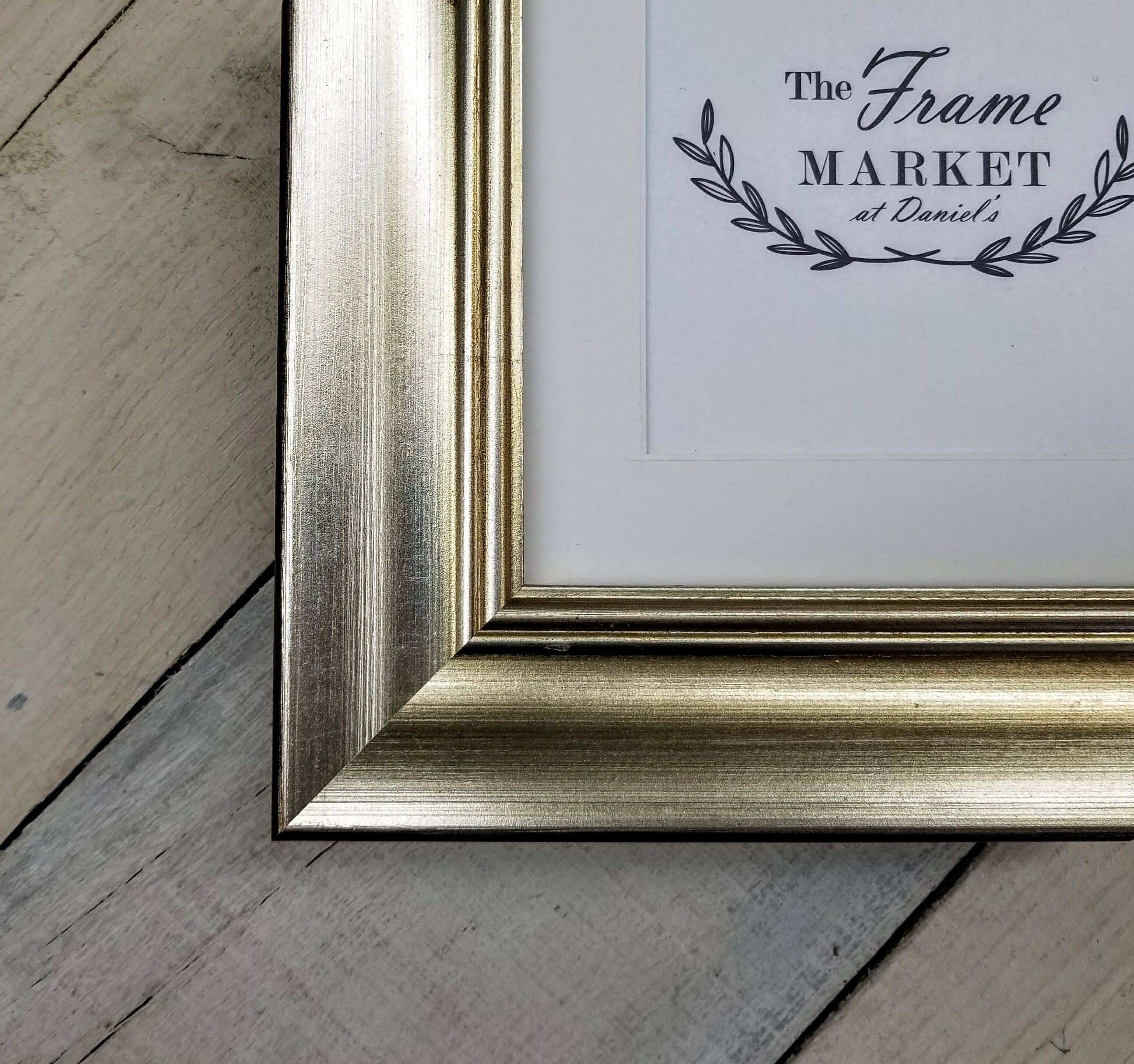 MINA Bevel Black Wood Picture Frame with White Mat 8x10 9x12 11x14