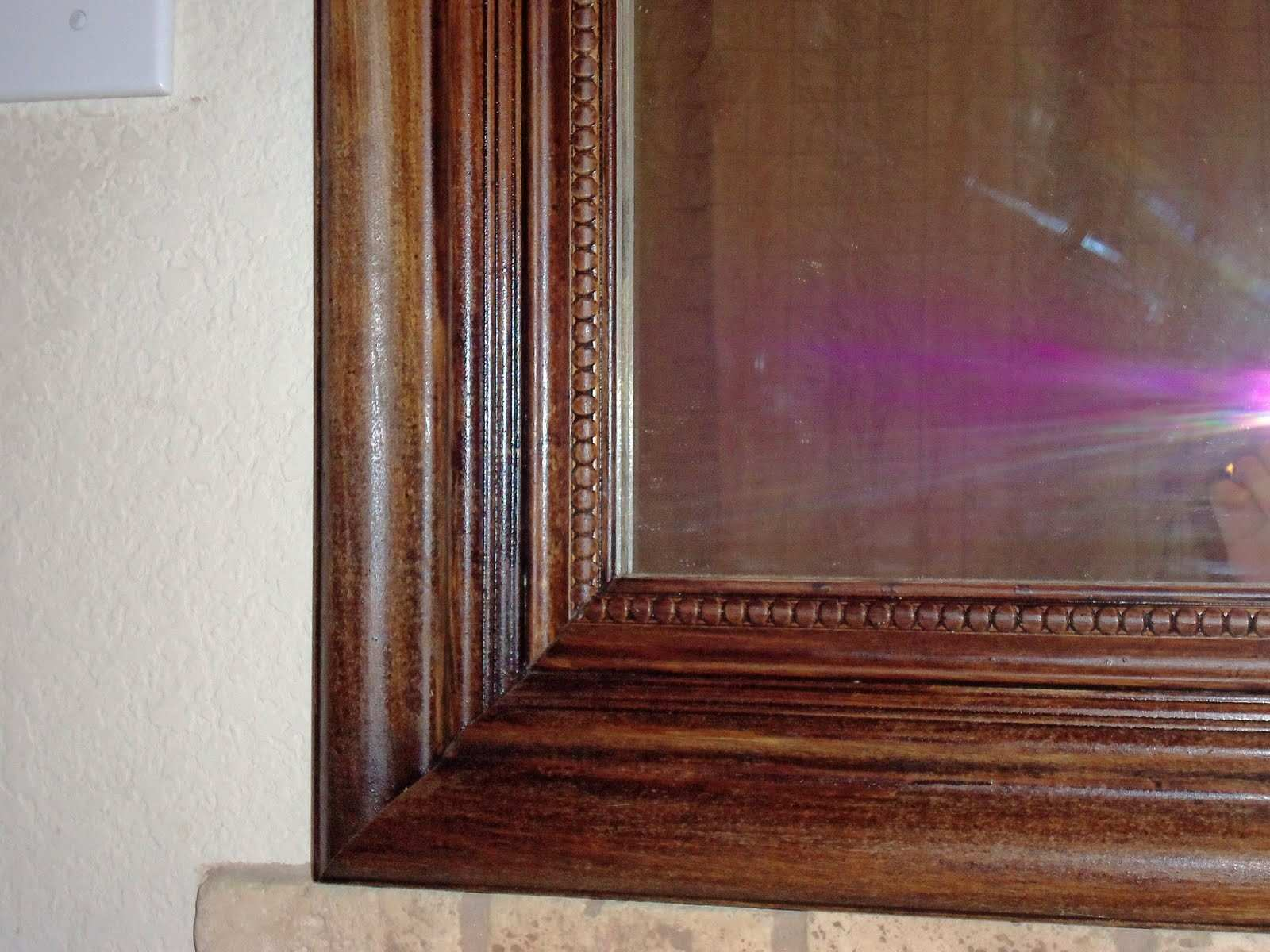 How to glue wood moulding to a mirror to create a faux frame