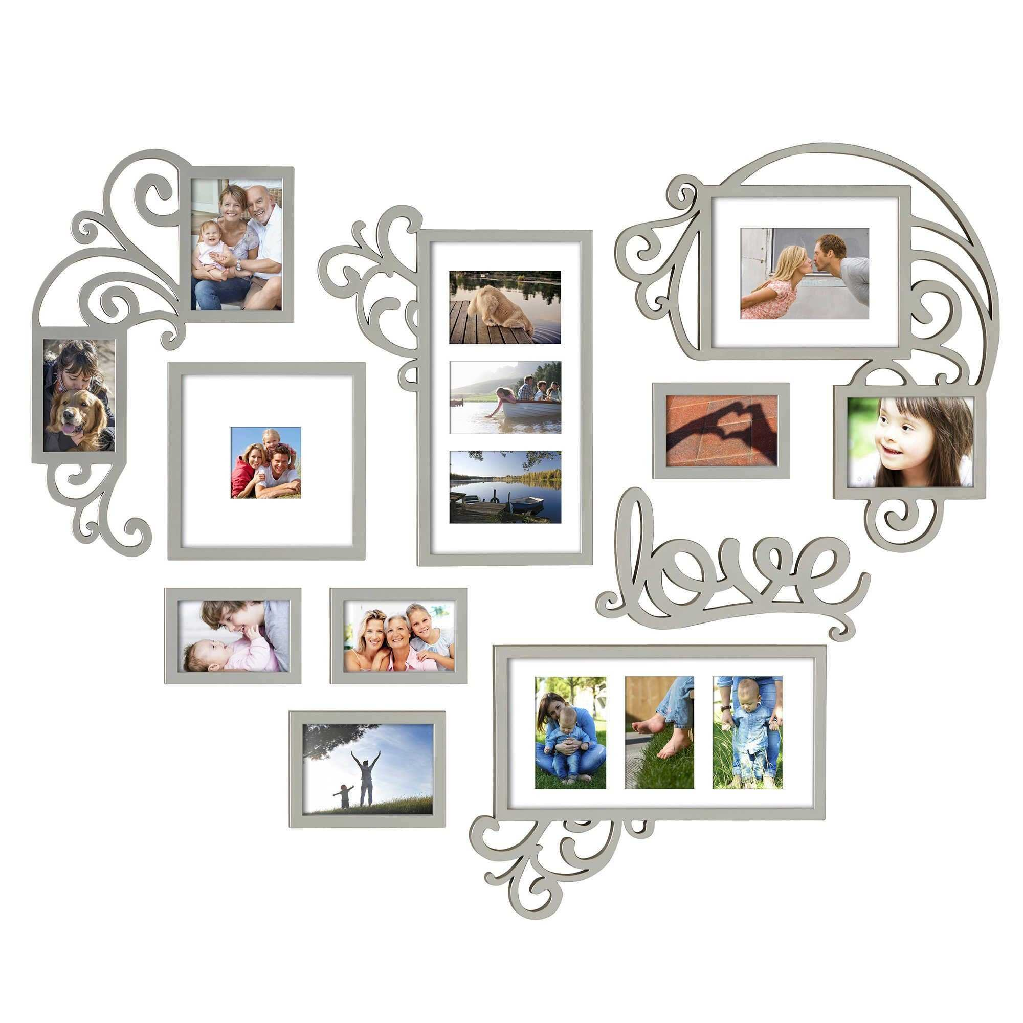 Elegant picture frame set wall gallery wall art ideas - Wall gallery frame set ideas ...