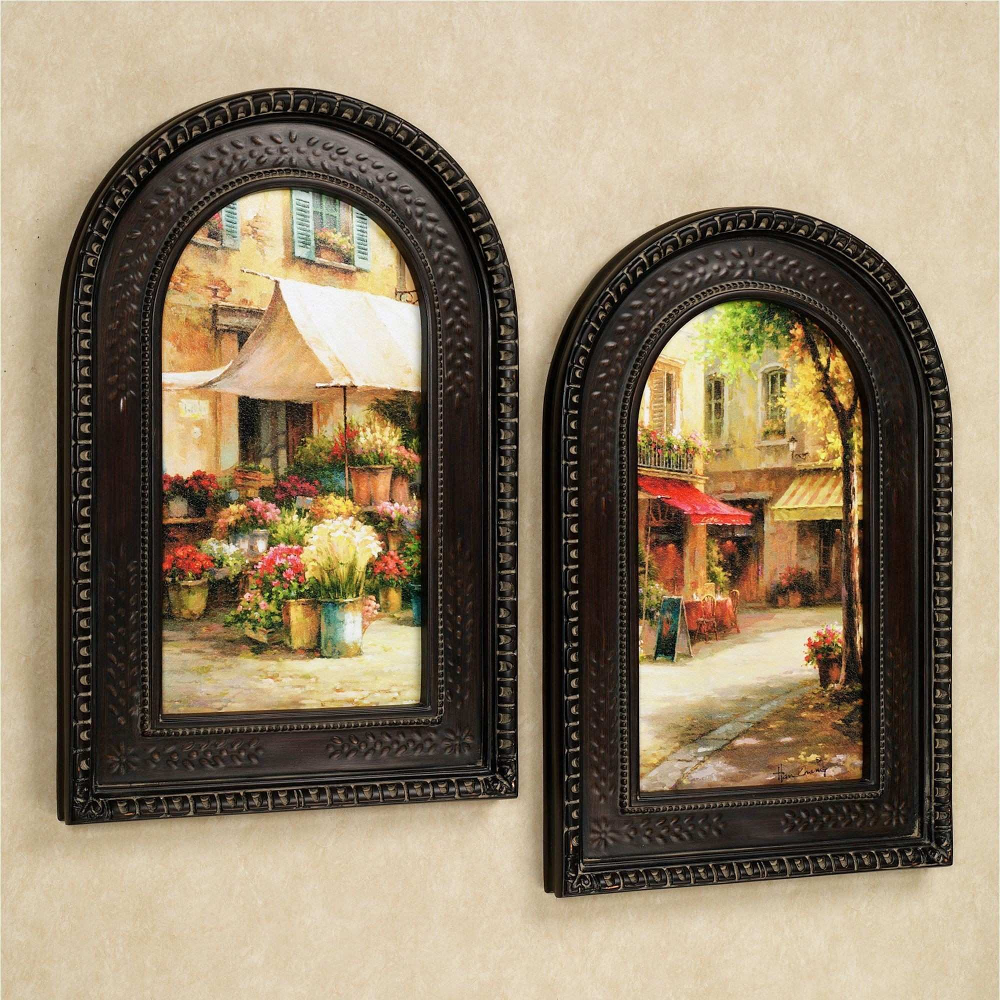 Arched Picture Frame Unique the Flower Market Arched Framed Wall Art