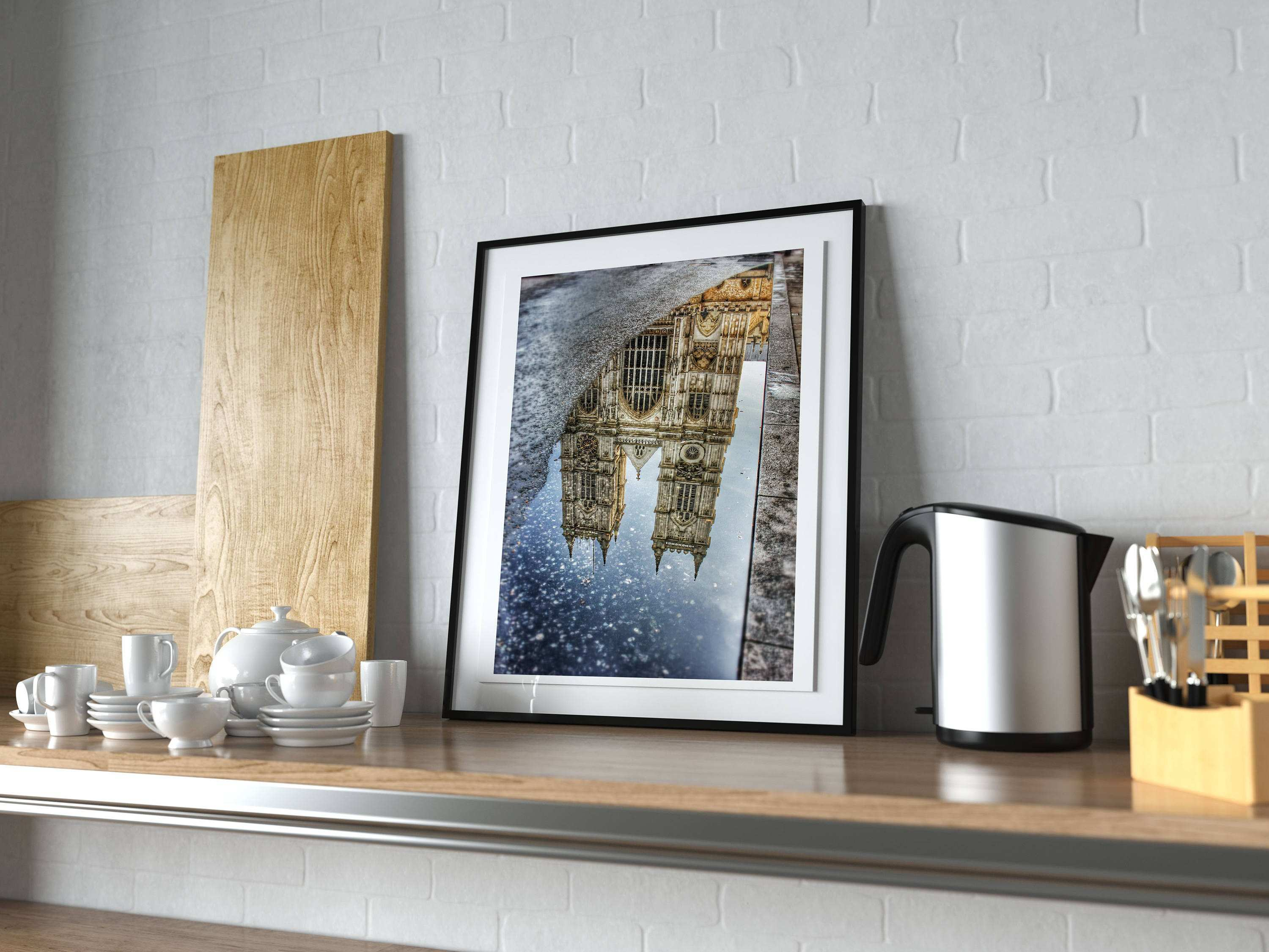 Picture Frame Wall Shelf Best Of Westminster Abbey Reflection Puddle London Uk Graphy Picture
