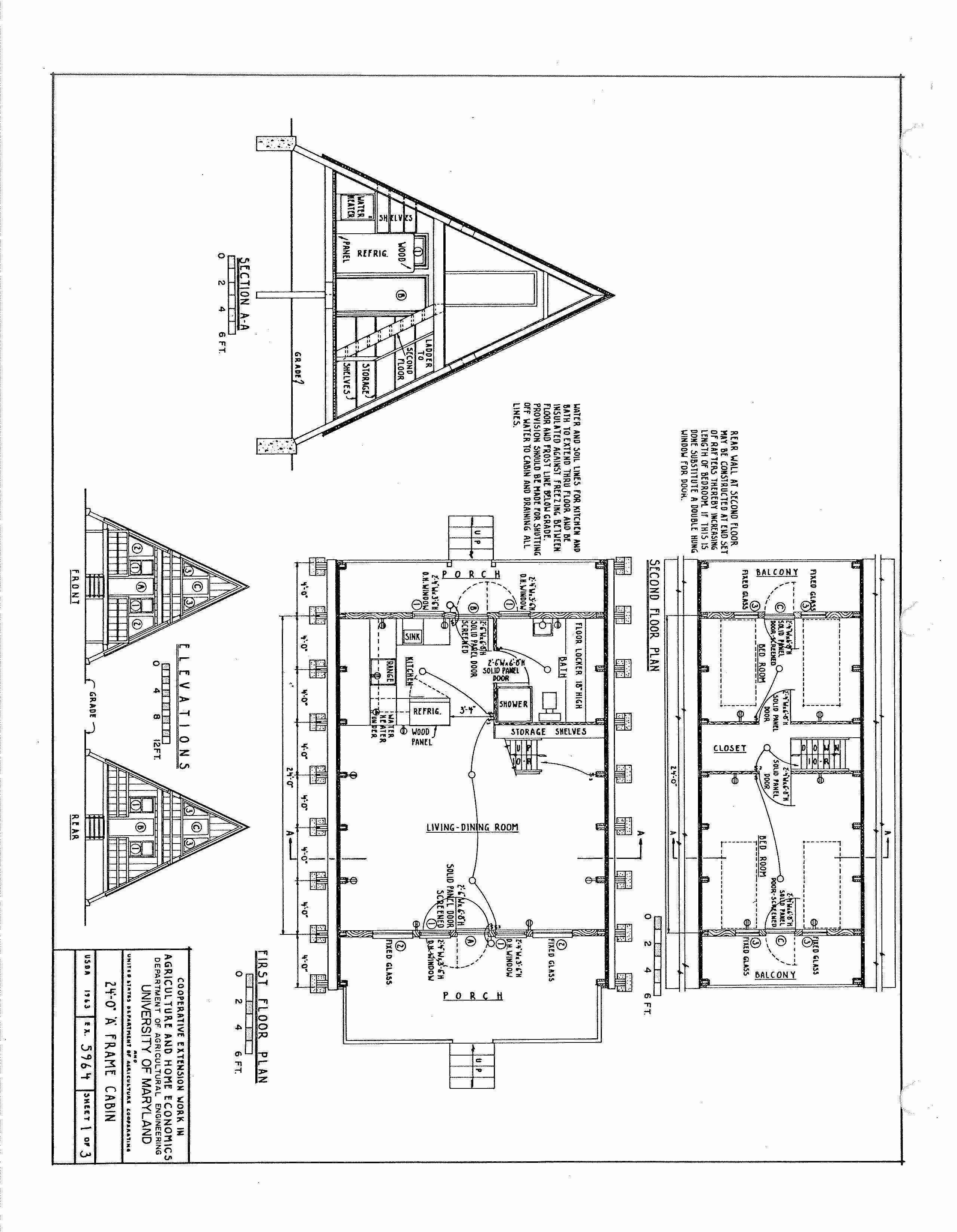 Picture Frame with Picture New Tiny A Frame House Plans ...
