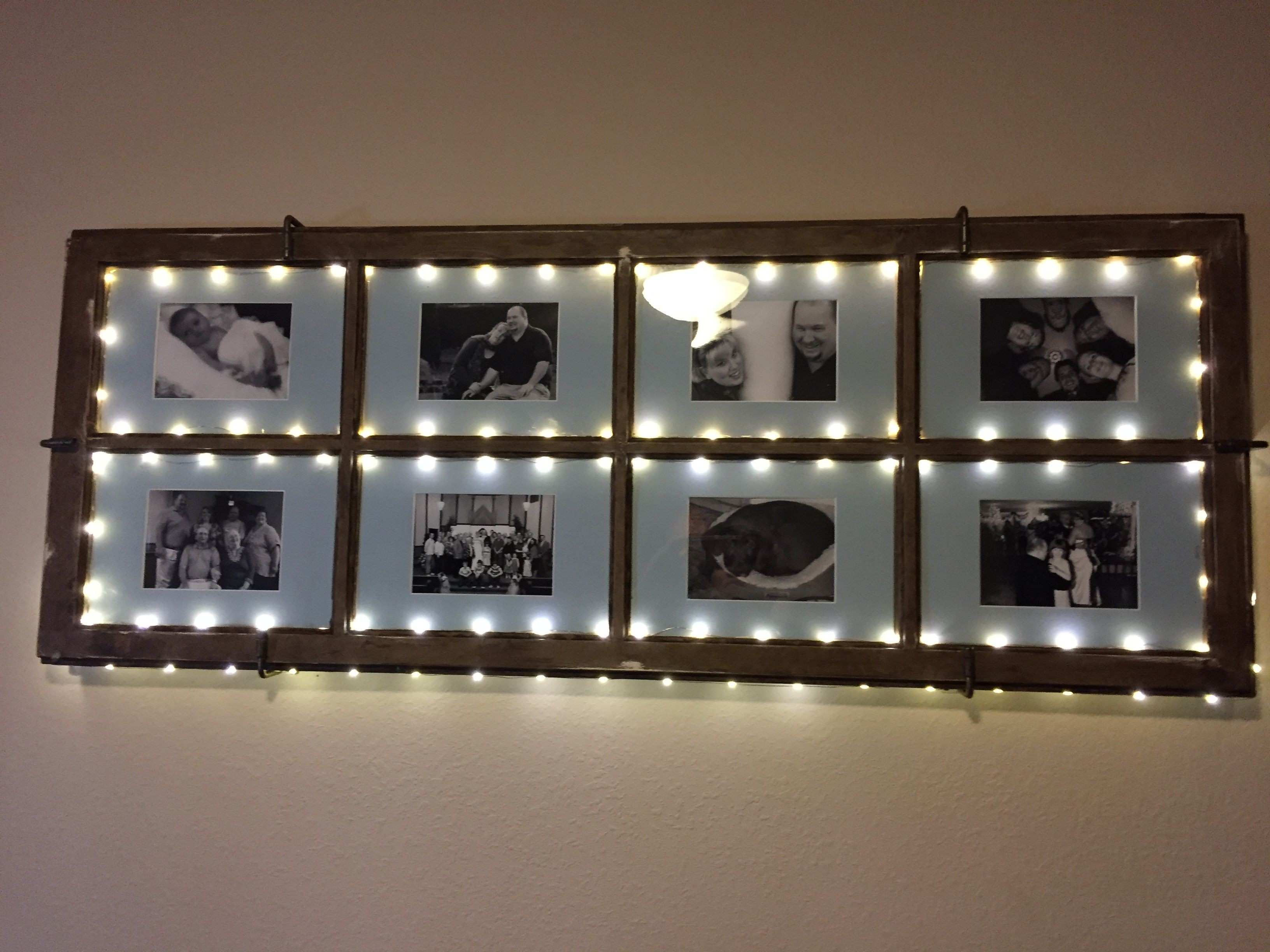 A lighted frame by Beth H with matting from Matboard and More