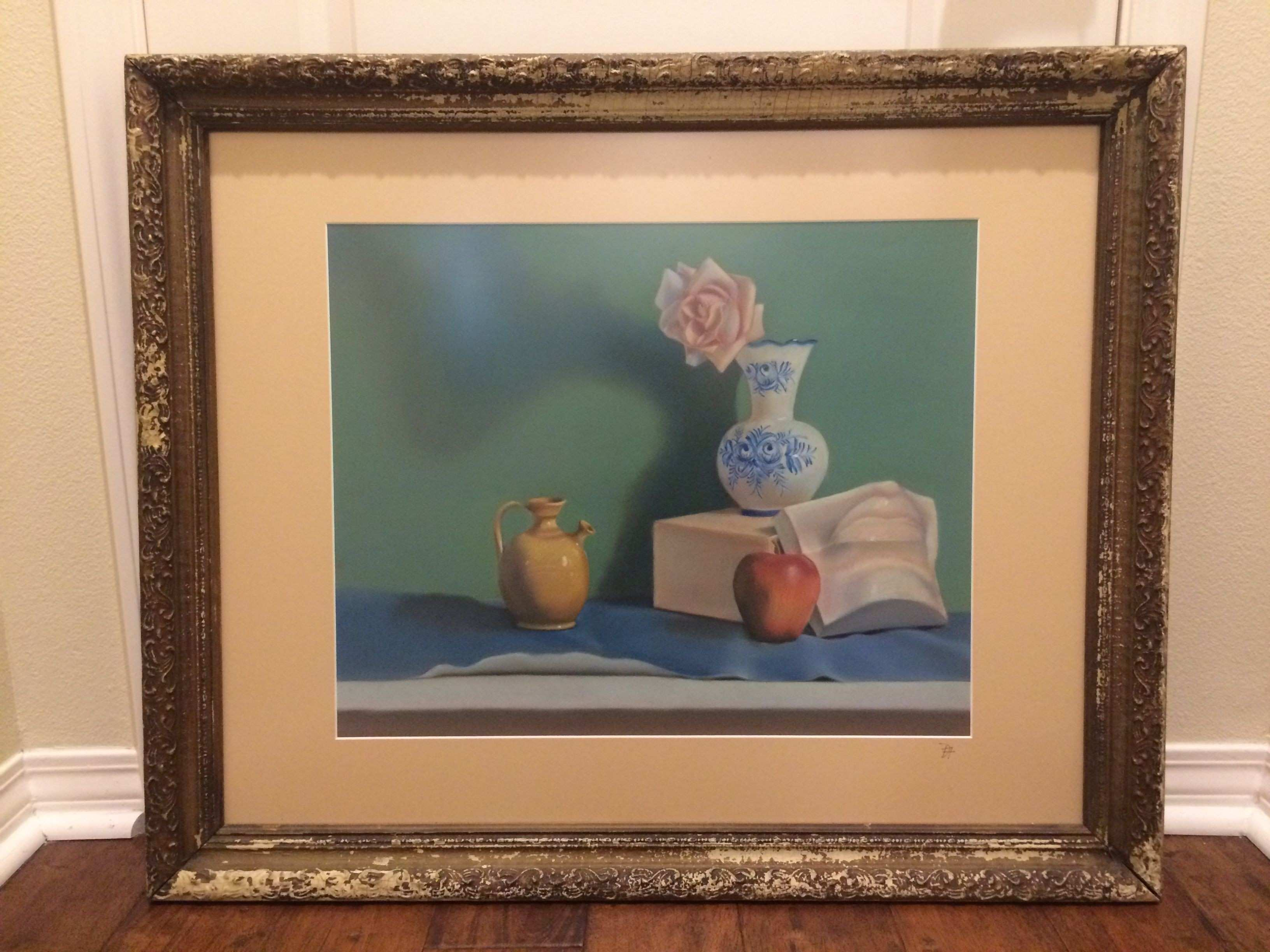 Denise gives her art a classic presentation with custom matting and
