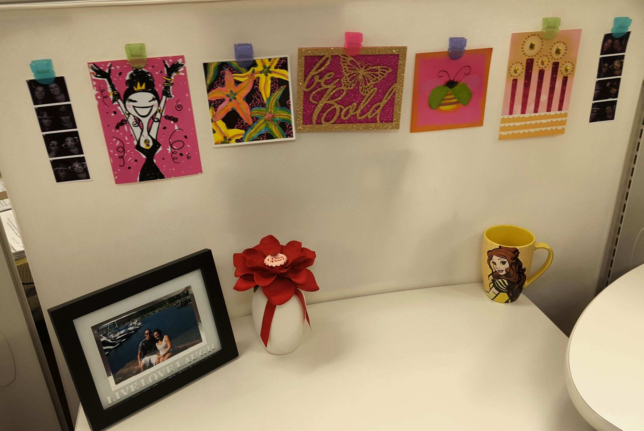 Jessica s Cubicle hang cards to help brighten up your cubicle