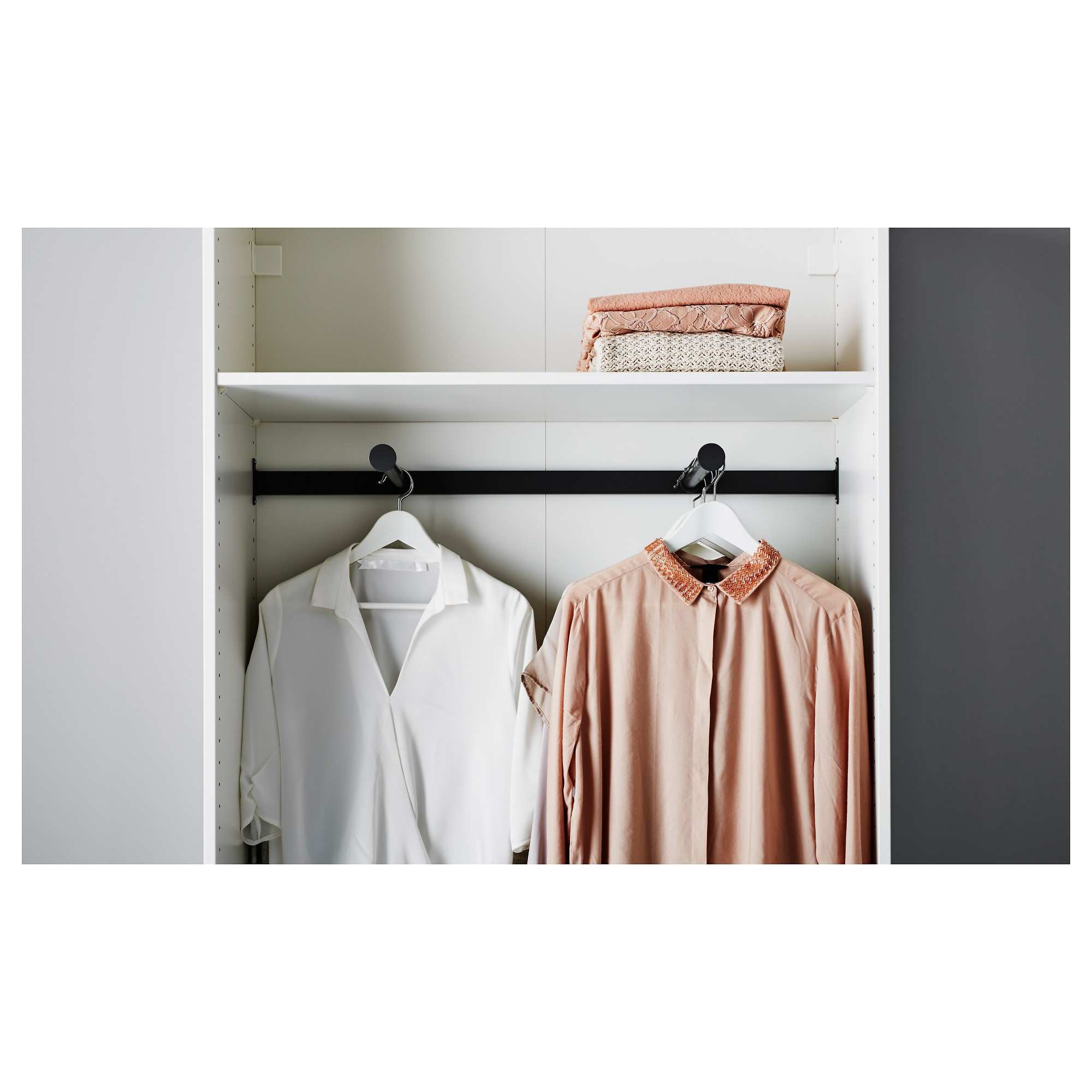 86y Wardrobe Ikea Pax Rail Double With Two Hanging Railsi 0d Wall