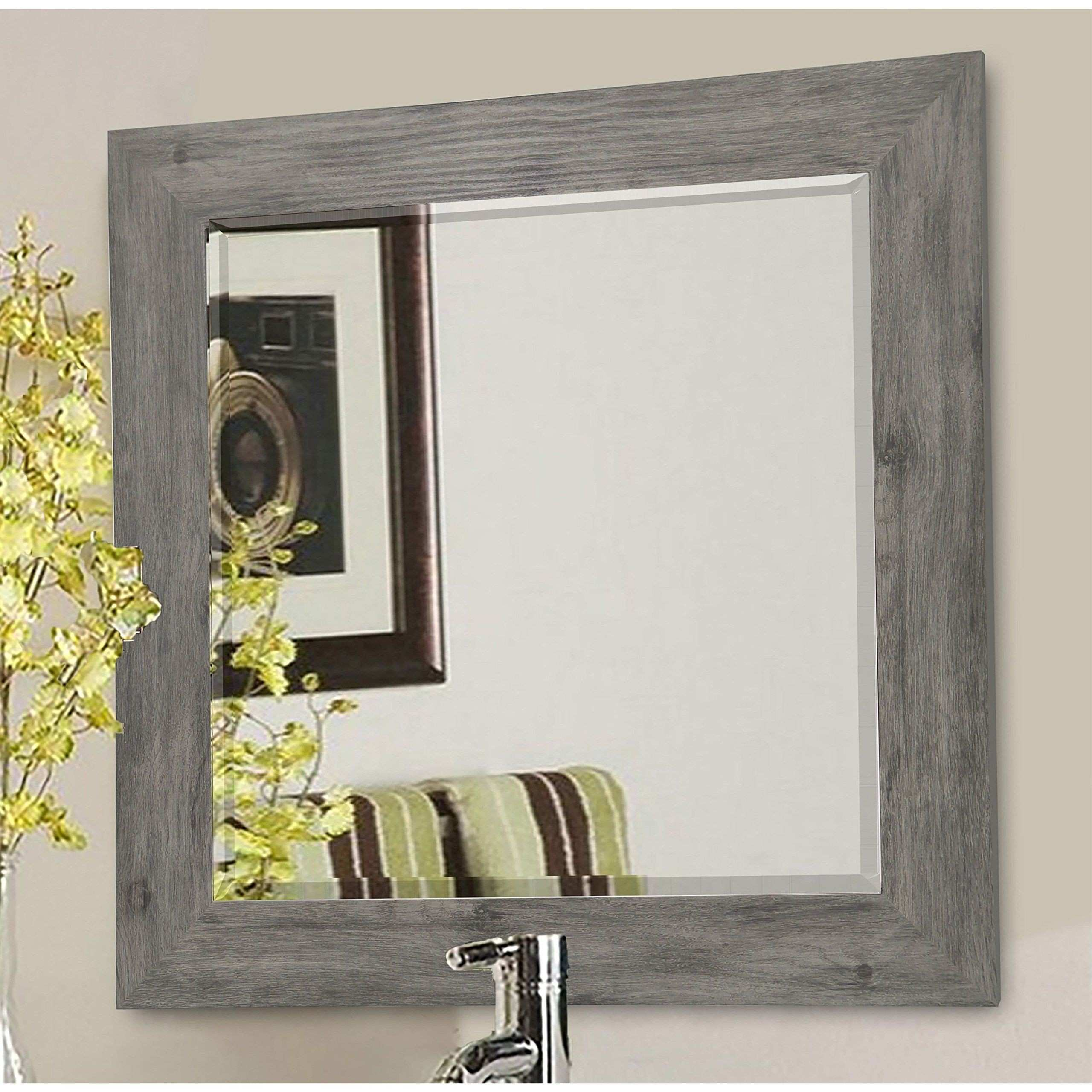 "Rayne Mirrors R064MS American Made Barnwood Wall Mirror 26 5"" X"