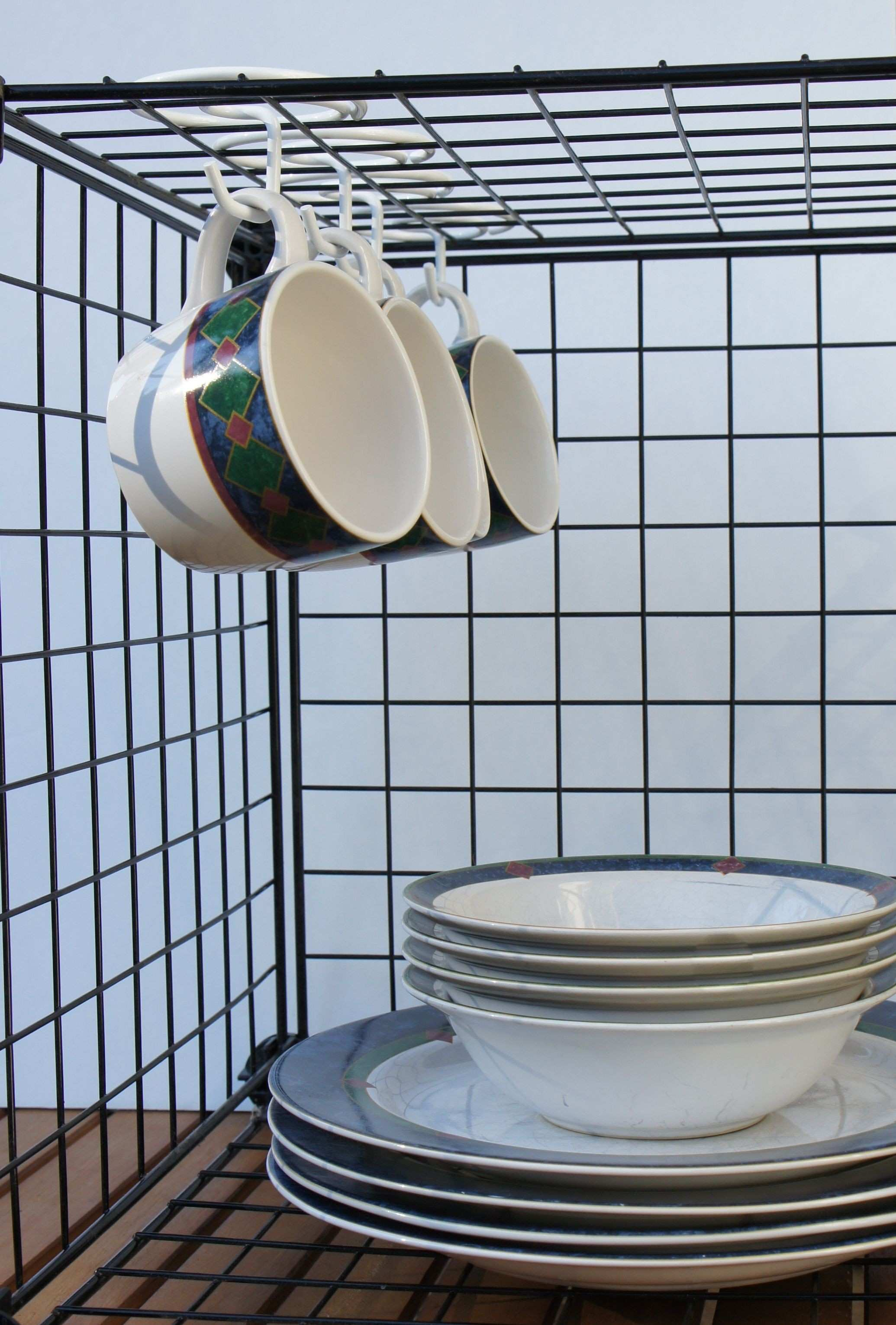 the Hook™ is perfect for hanging mugs in wire storage cubes