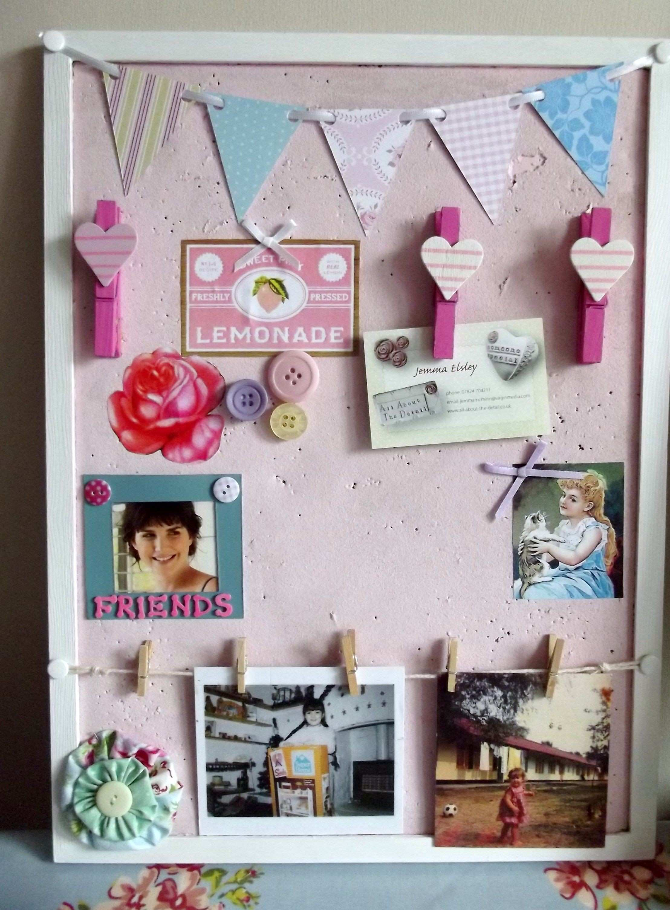 Funky pin board idea by me at all about the detail