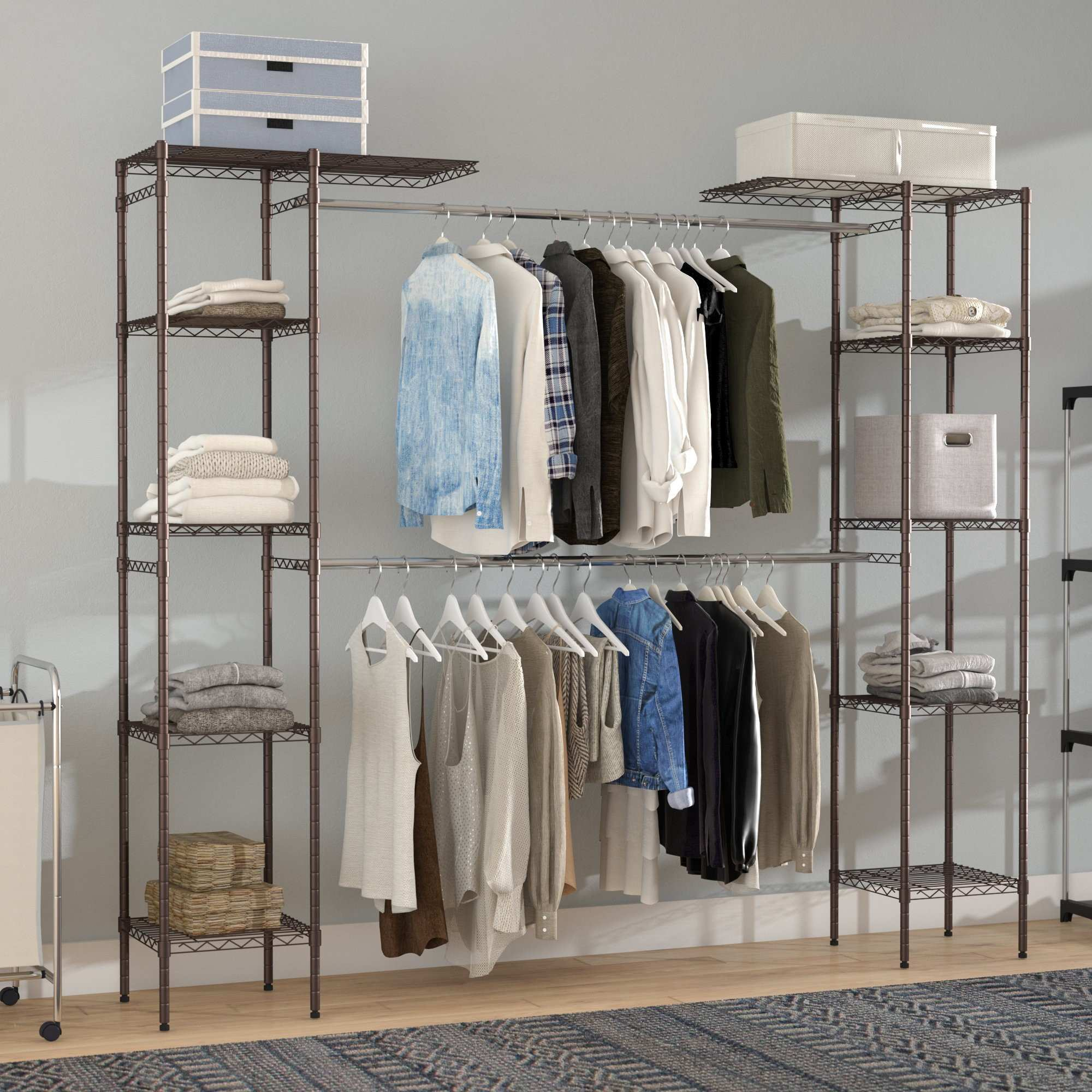 460 2xy Wardrobe Hanging Systems Rails For Coats Shelves Shoes And